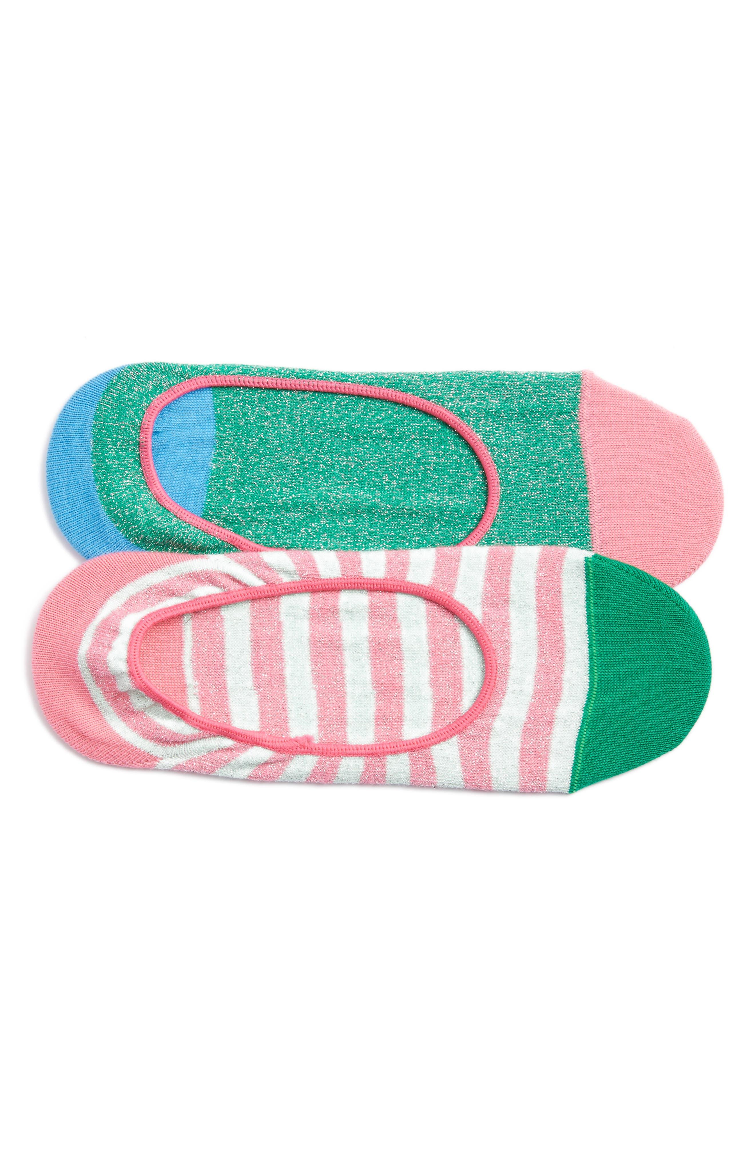 2-Pack Claudia No-Show Socks,                             Main thumbnail 1, color,                             Pink