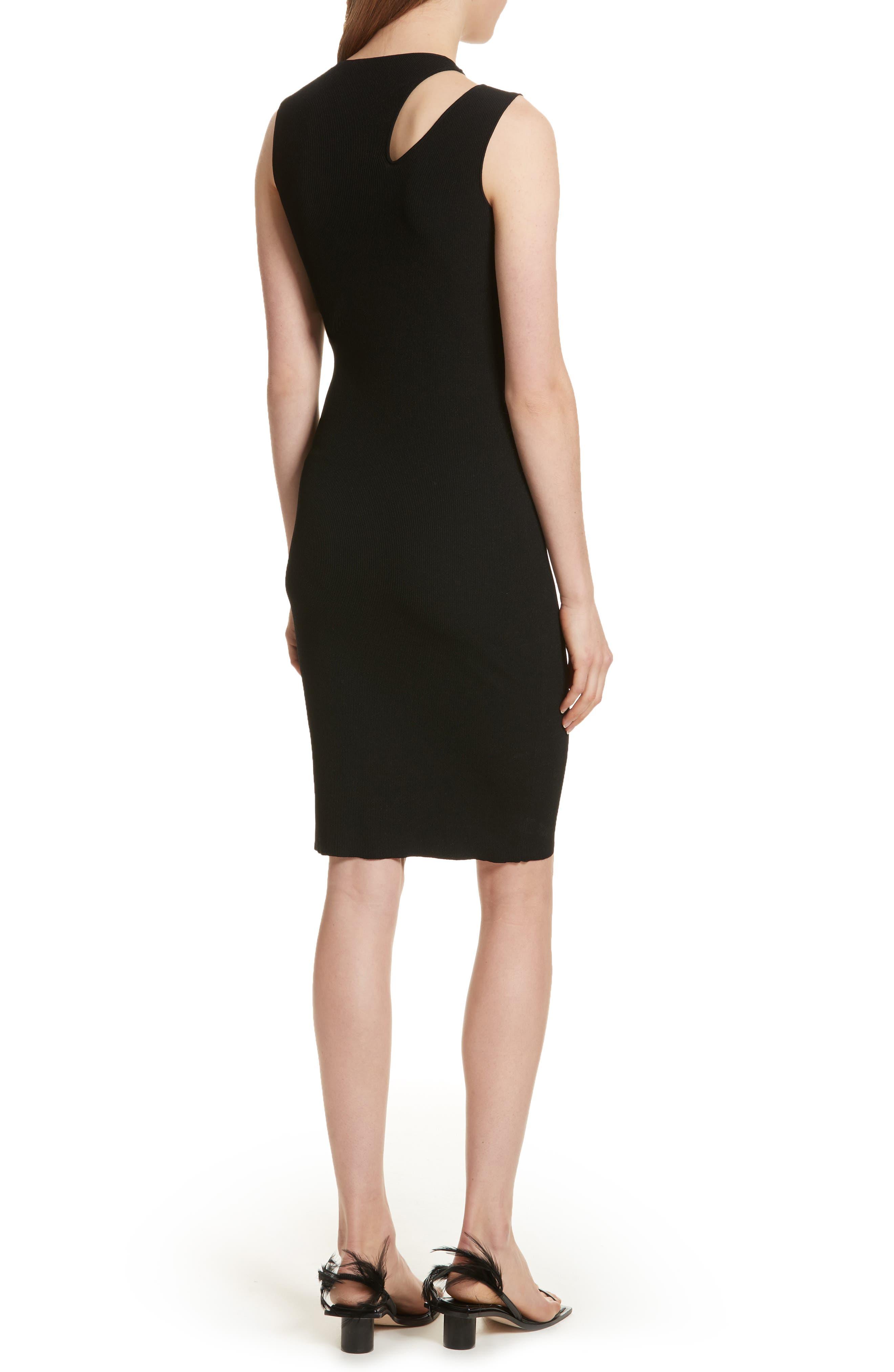 Slash Layered Tank Dress,                             Alternate thumbnail 2, color,                             Black