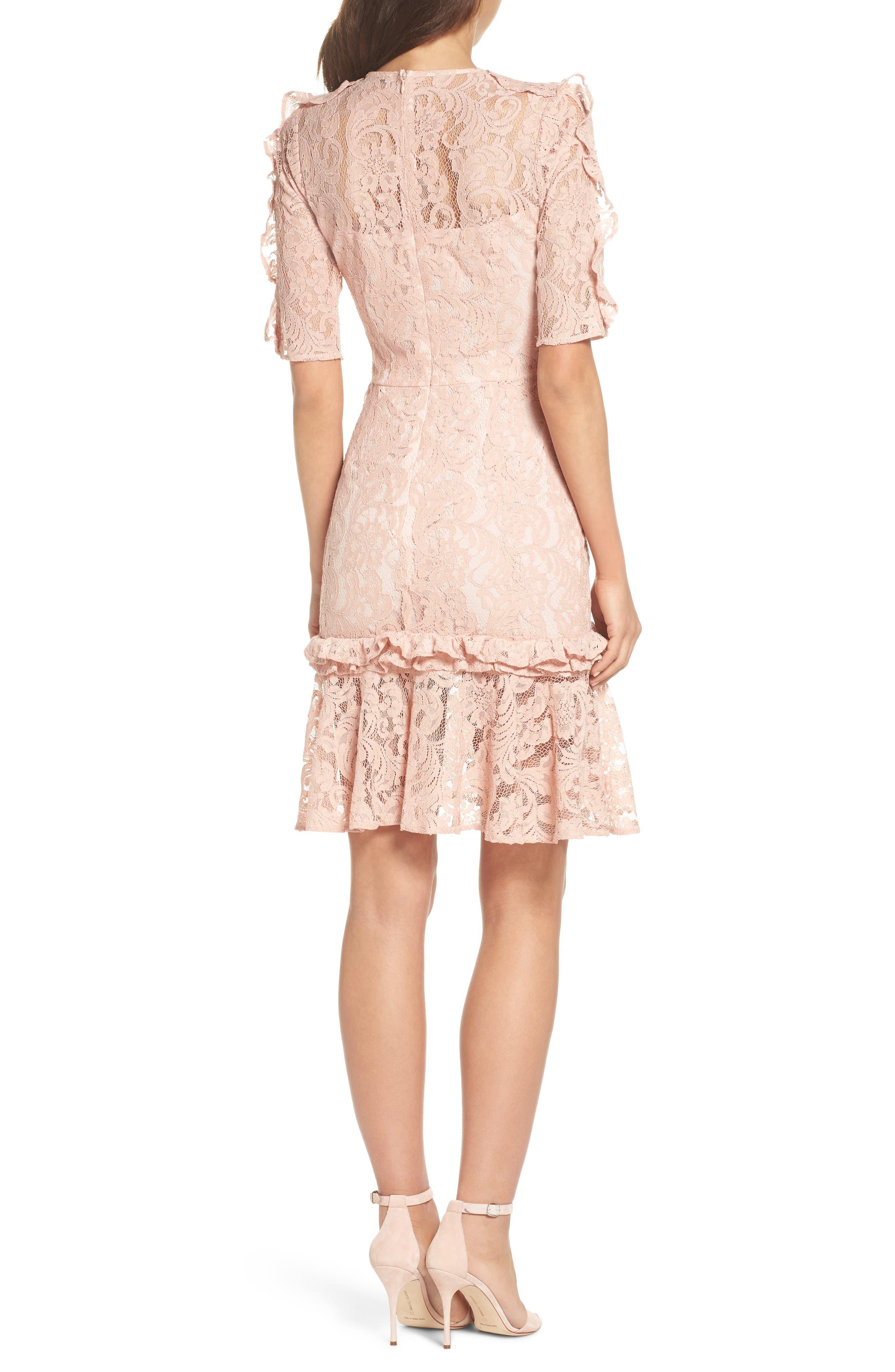 Hushed Dove Lace Dress,                             Alternate thumbnail 2, color,                             Rose Cloud