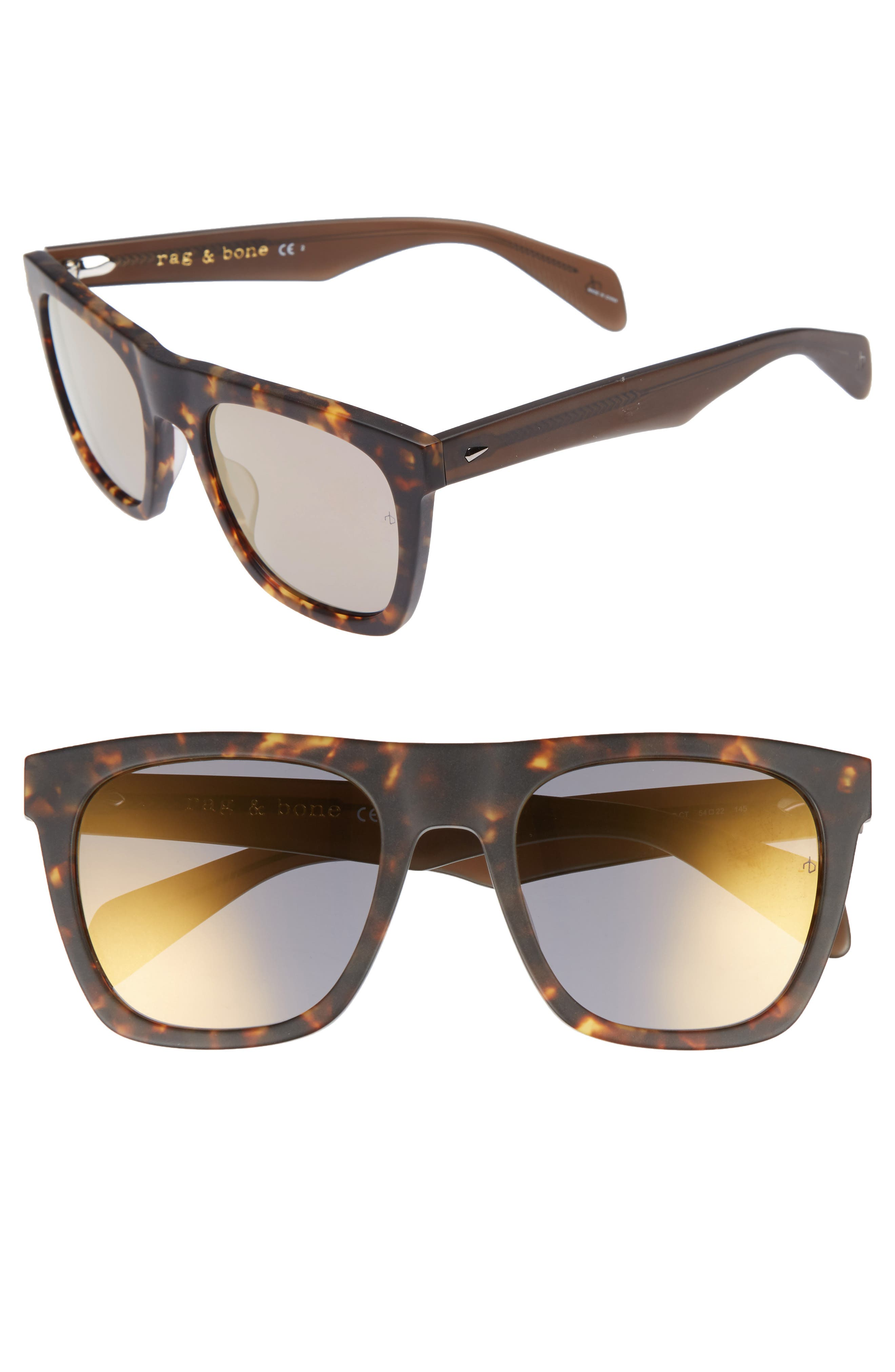 54mm Sunglasses,                             Main thumbnail 1, color,                             Matte Havana
