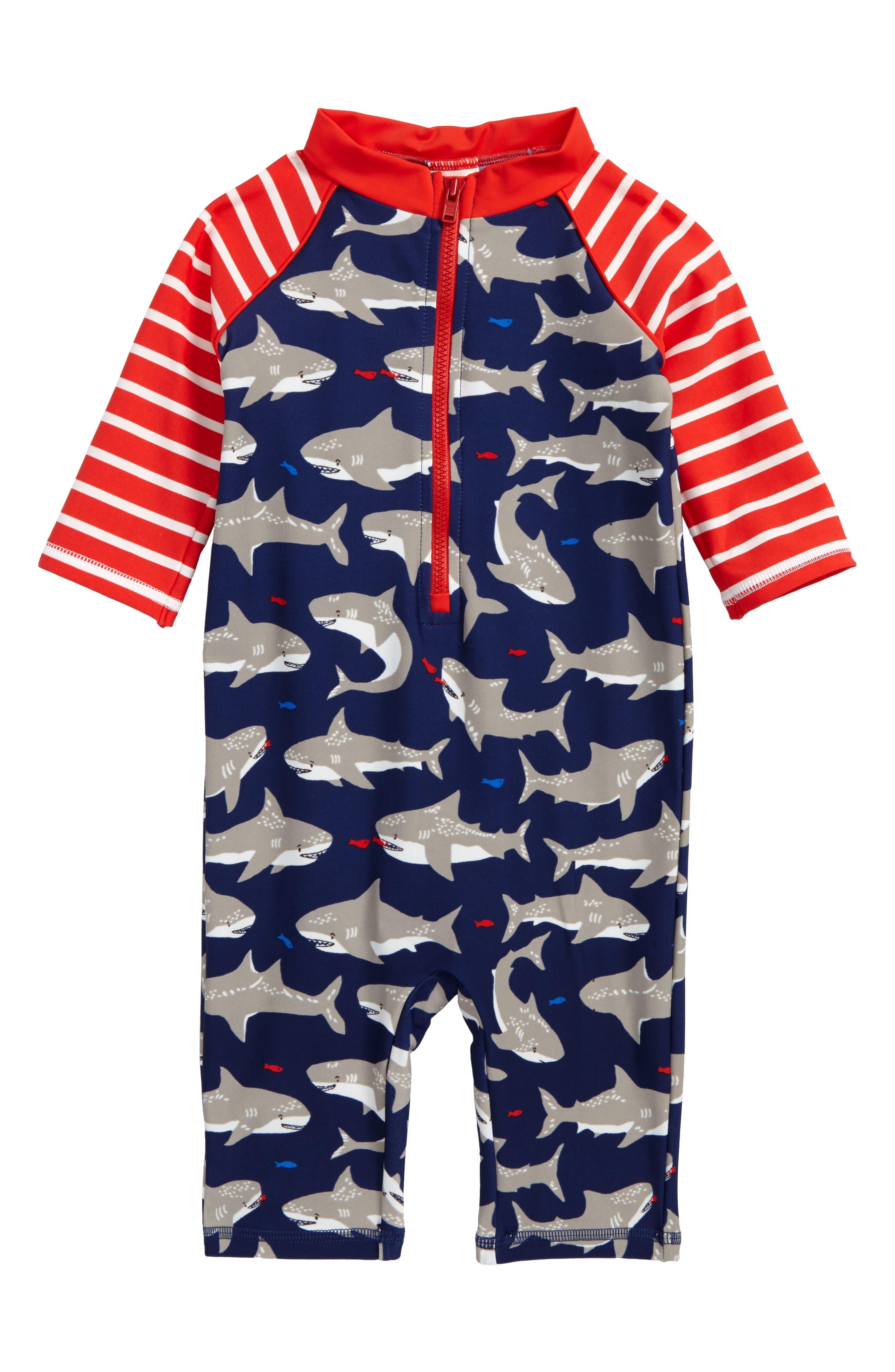 Mini Boden Print Surf Suit (Baby Boys & Toddler Boys)