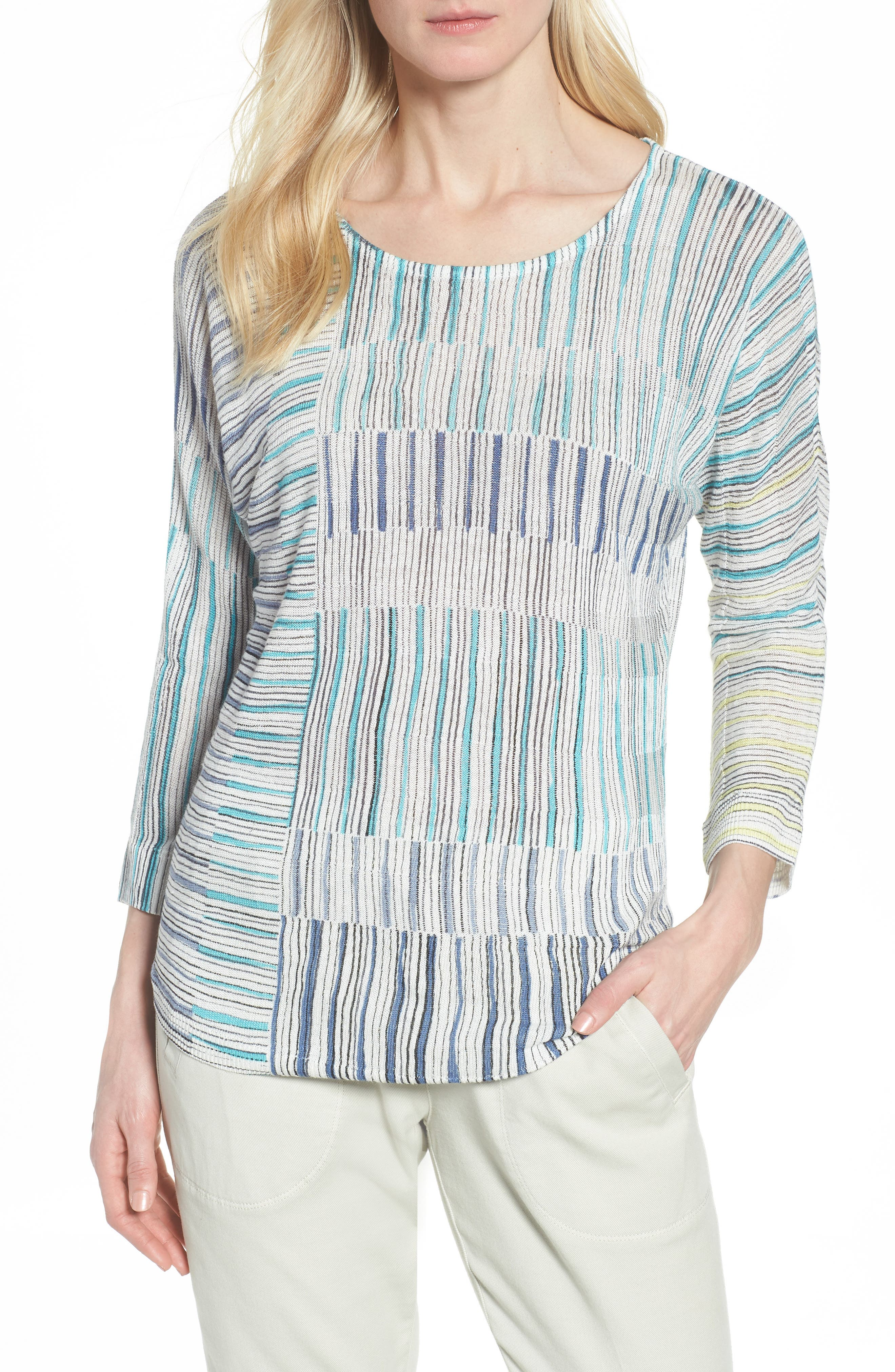 Sea Wall Stripe Top,                             Main thumbnail 1, color,                             Multi