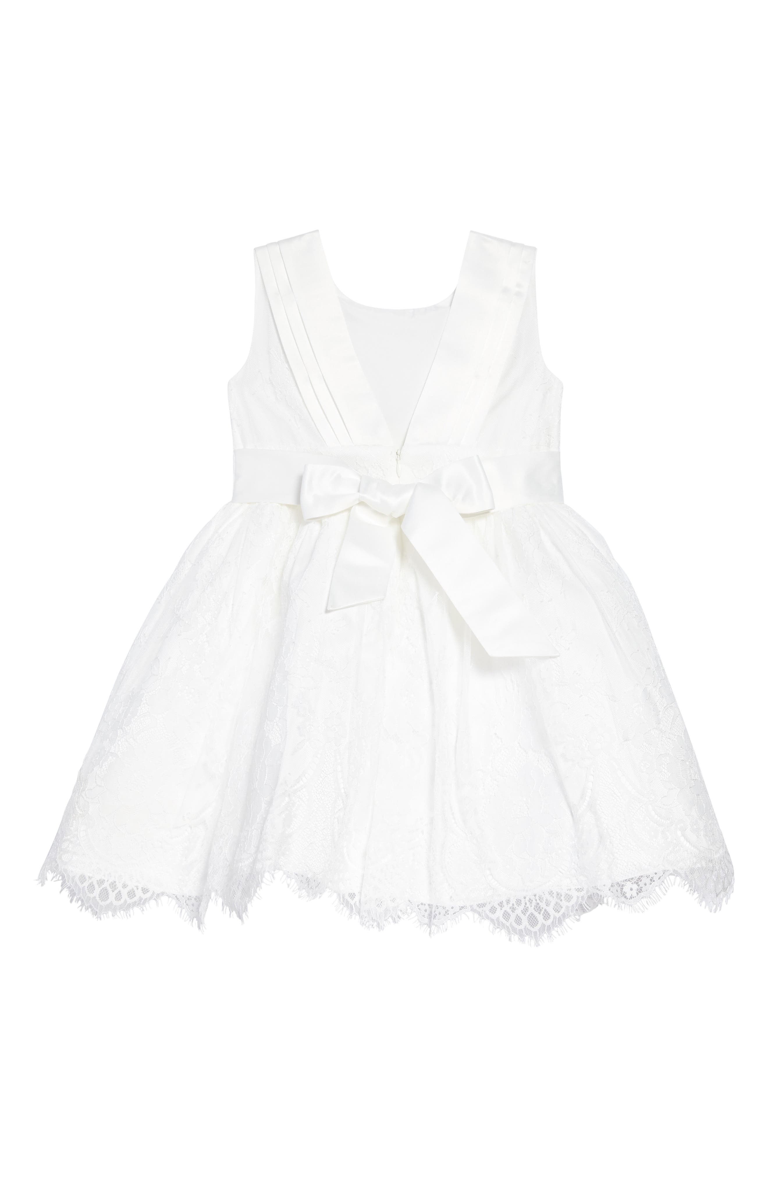 The Randi Floral Lace Dress,                             Alternate thumbnail 2, color,                             Ivory
