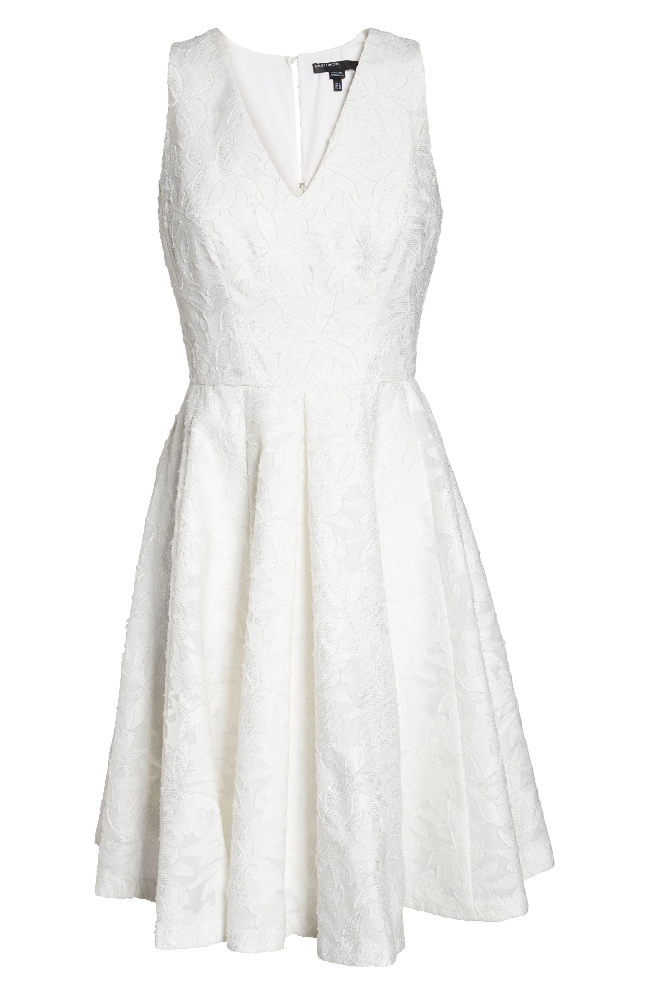 Alternate Image 6  - Maggy London Floral Burnout Fit & Flare Dress (Regular & Petite)