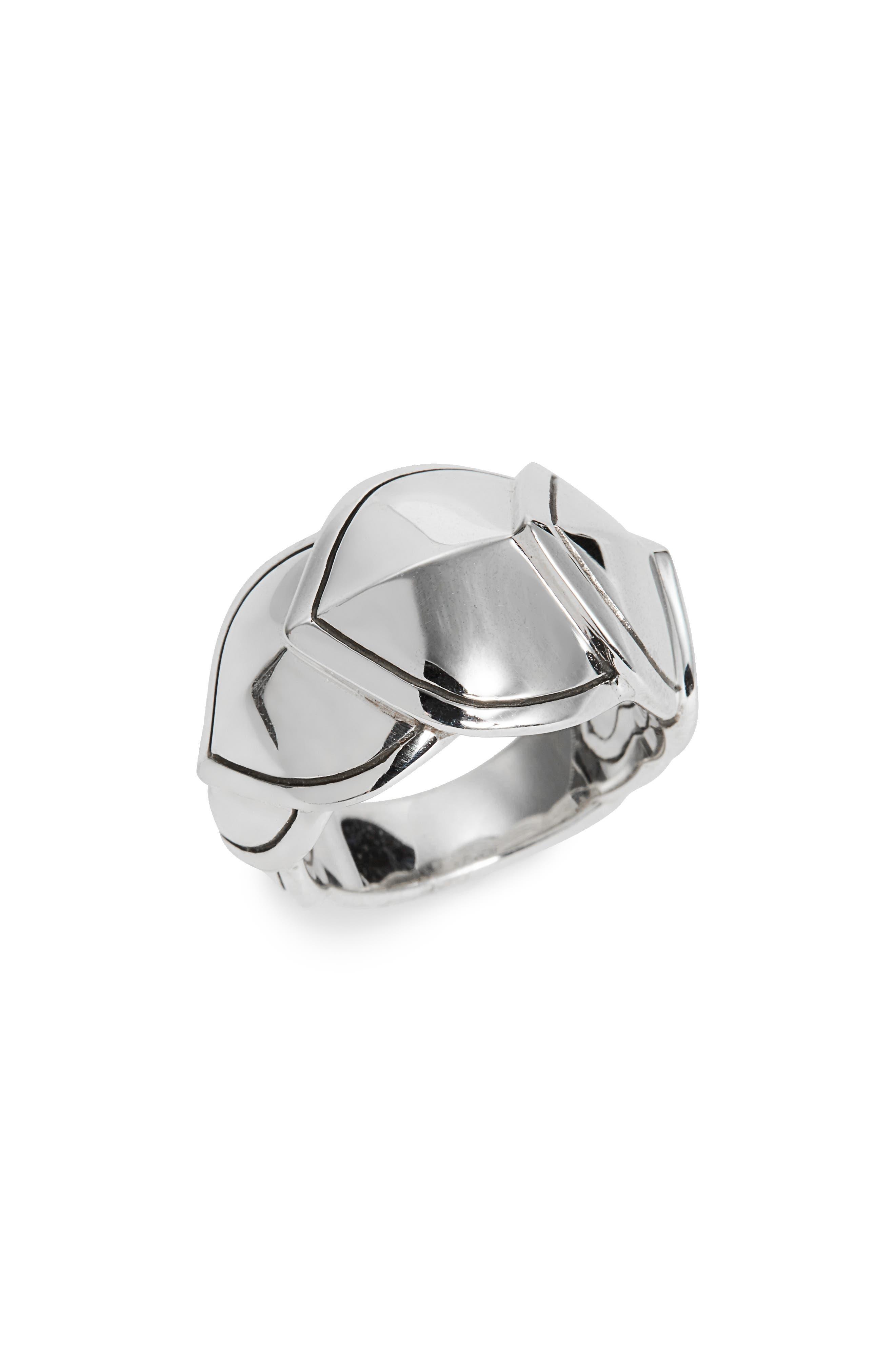 Legends Naga Medium Ring,                             Main thumbnail 1, color,                             Silver