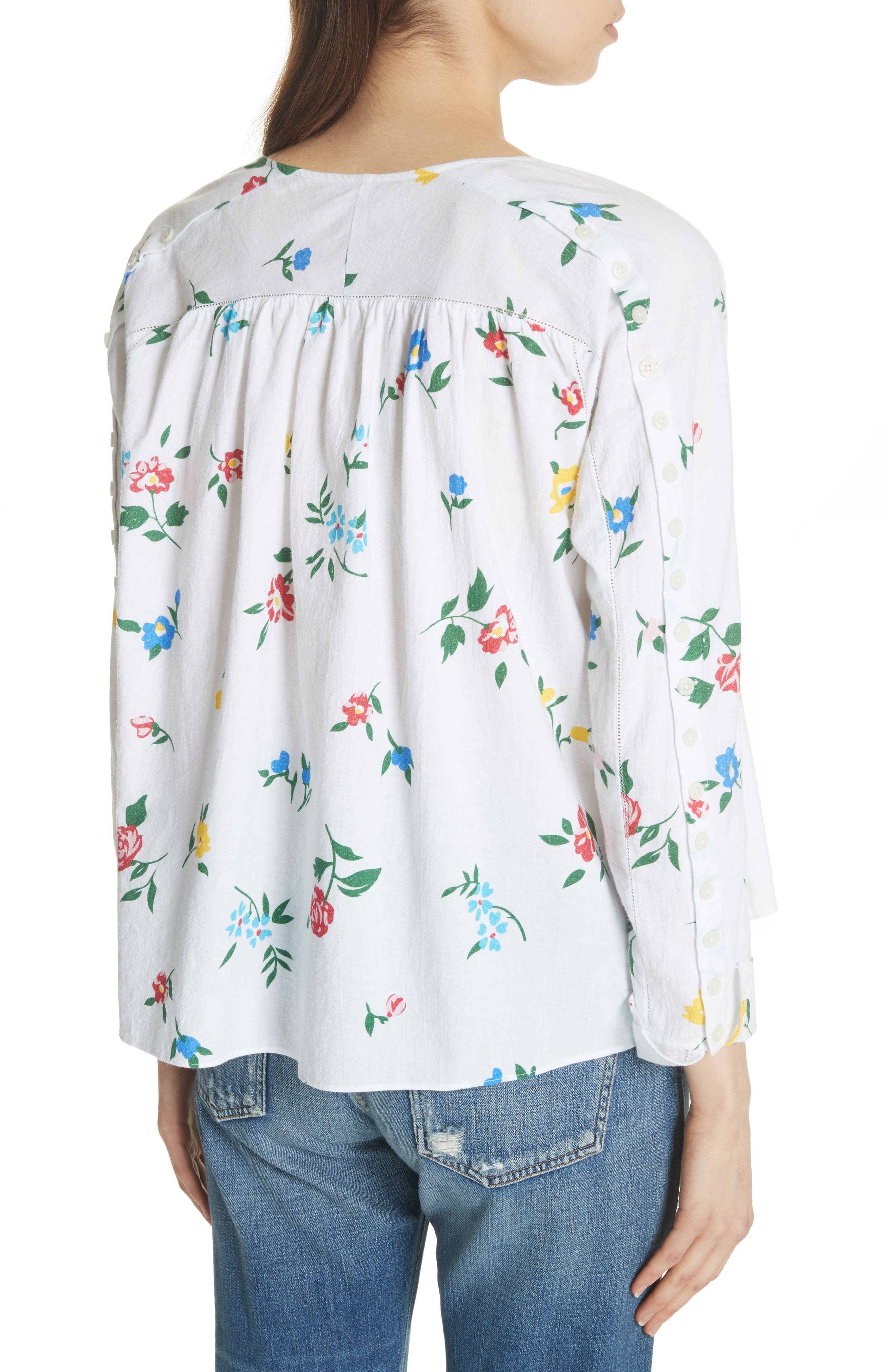 The Boutonniere Top,                             Alternate thumbnail 3, color,                             Western Wallflower Print