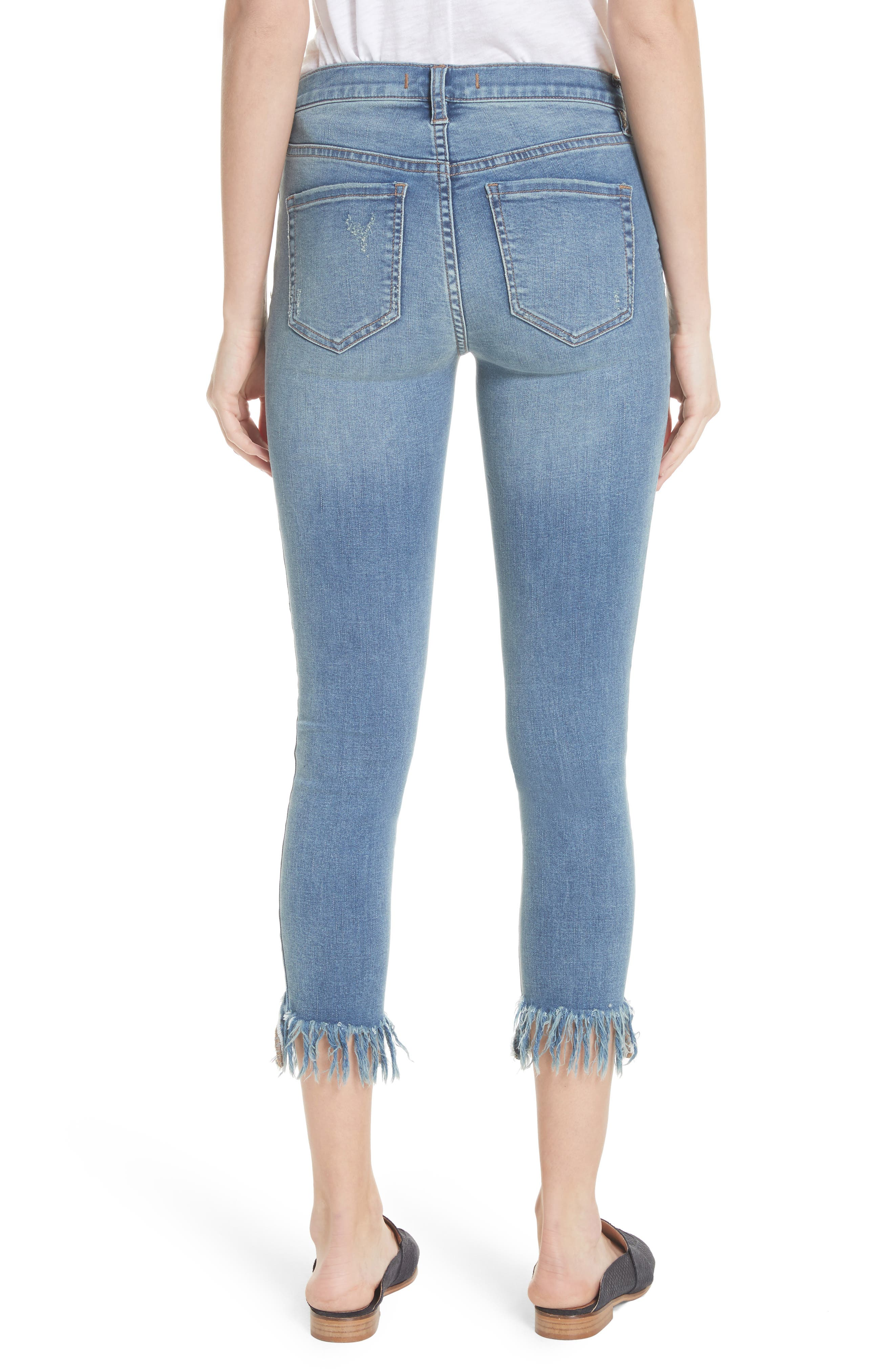 Great Heights Frayed Skinny Jeans,                             Alternate thumbnail 2, color,                             Sky