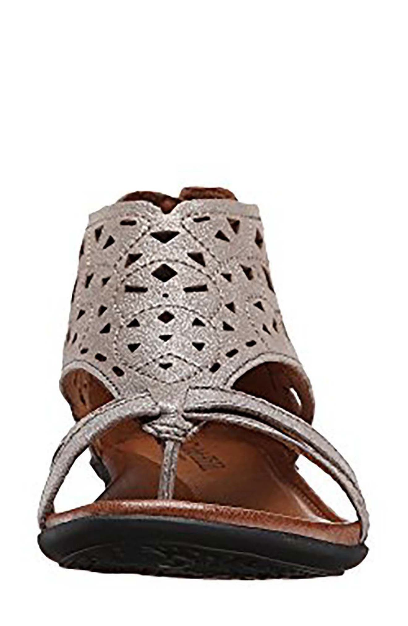 'Jordan' Sandal,                             Alternate thumbnail 4, color,                             Pewter Leather