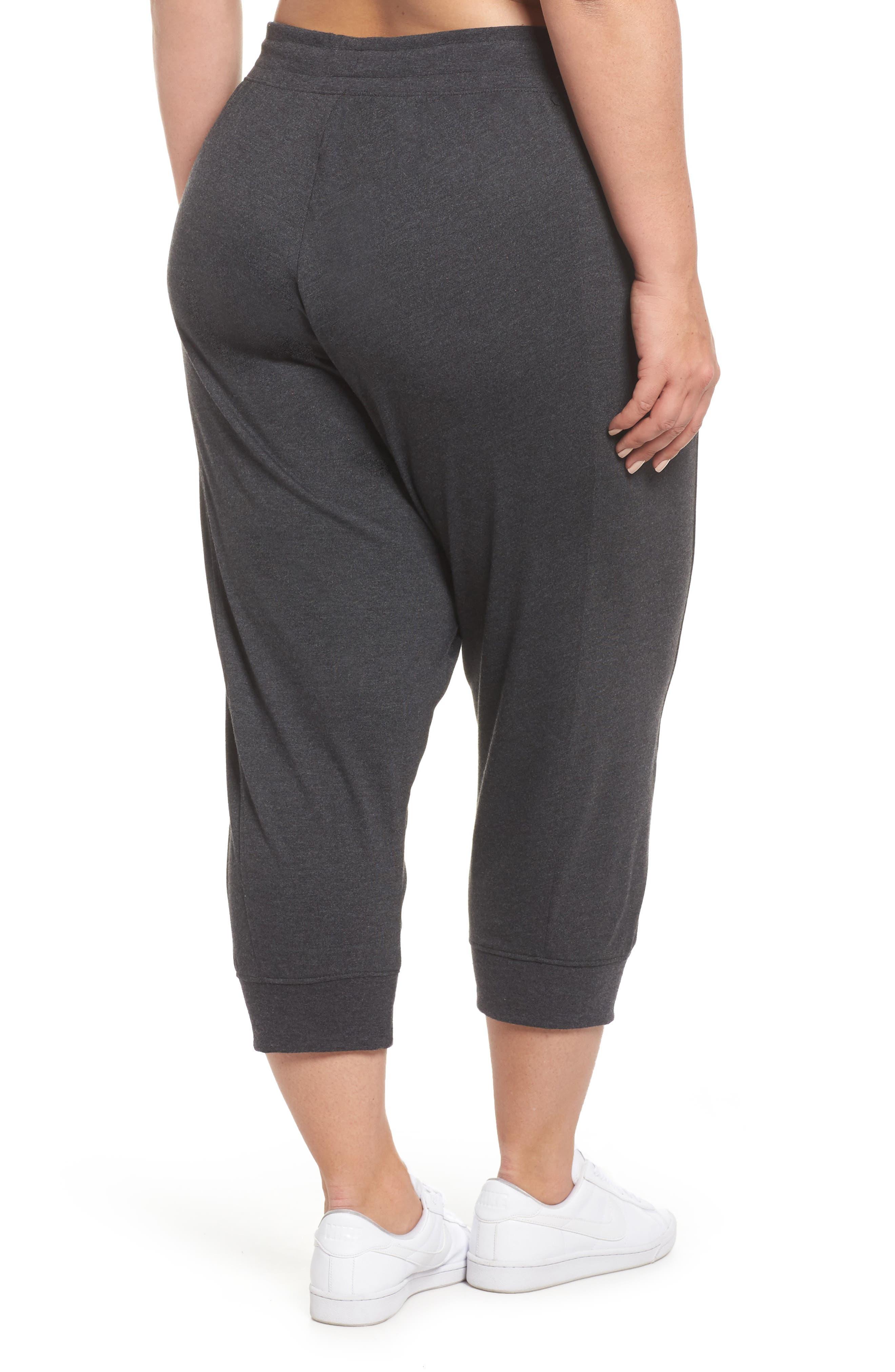 Sportswear Gym Capris,                             Alternate thumbnail 2, color,                             Black Heather/ Sail