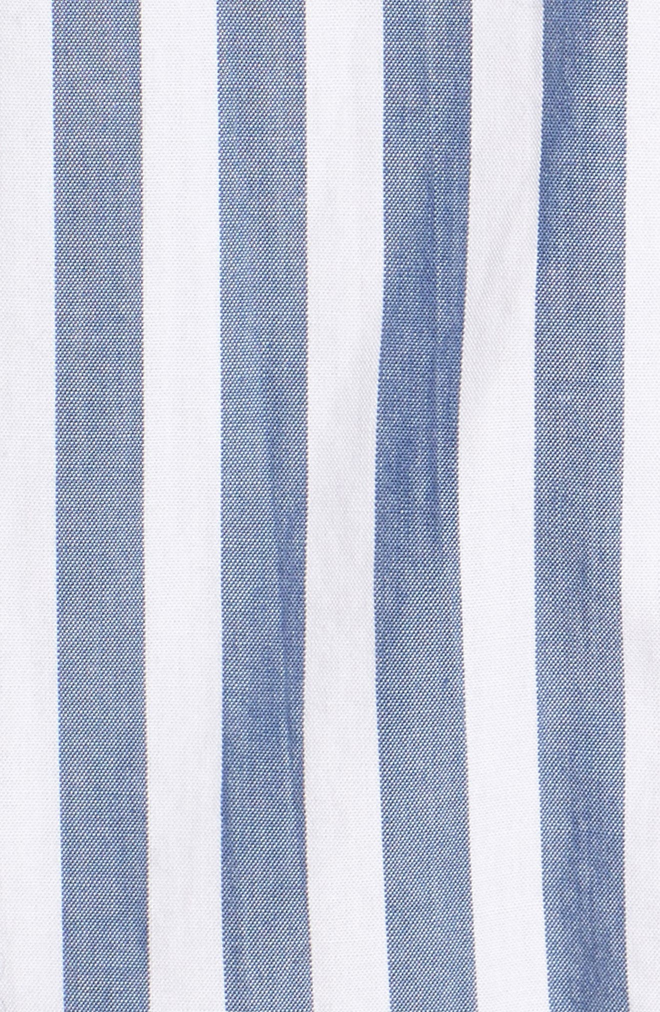 The Des Stripe Tie Back Shirt,                             Alternate thumbnail 5, color,                             Blue Lagoon Stripe