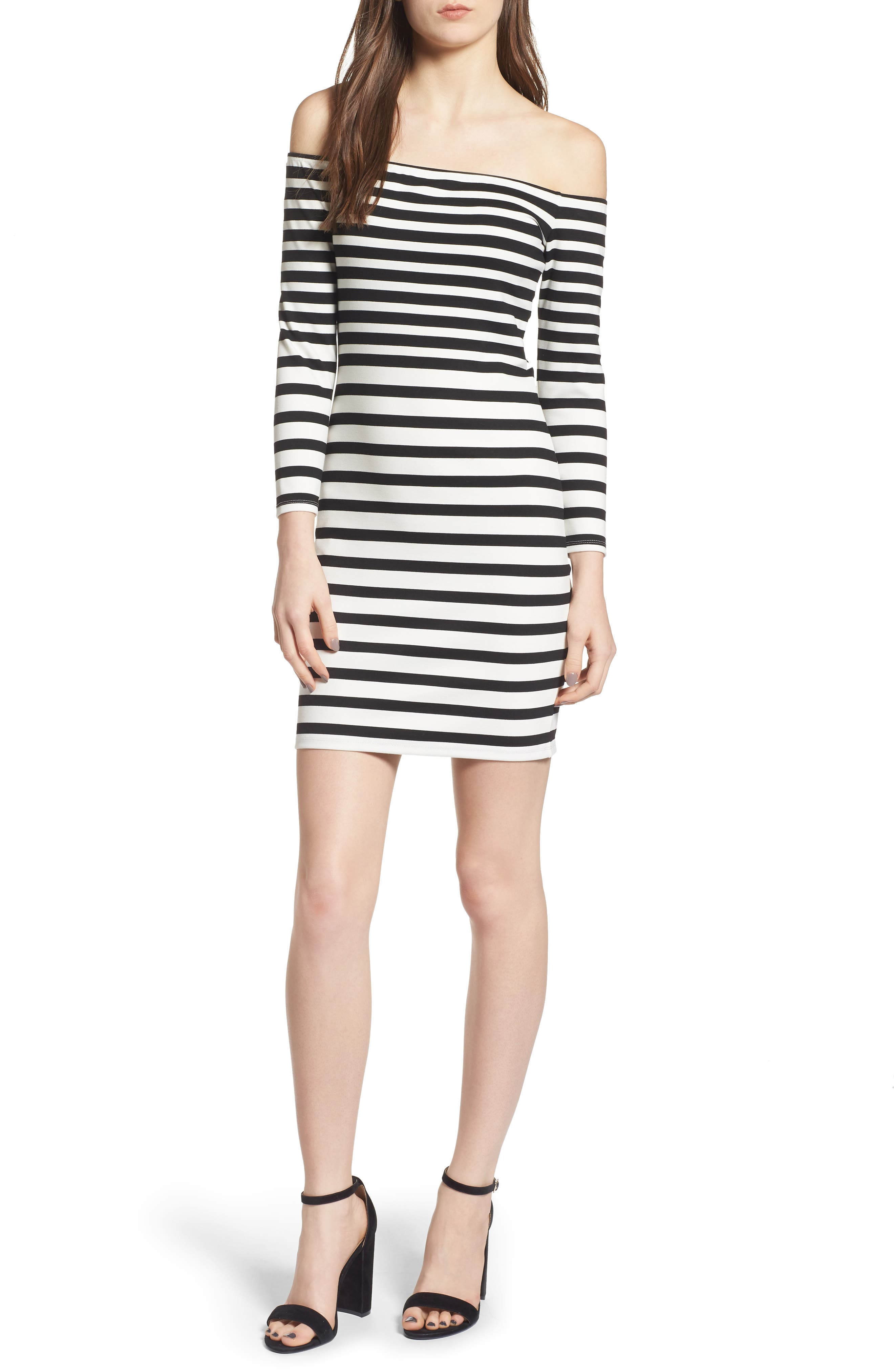 cupcakes and cashmere Fira Off the Shoulder Body-Con Dress