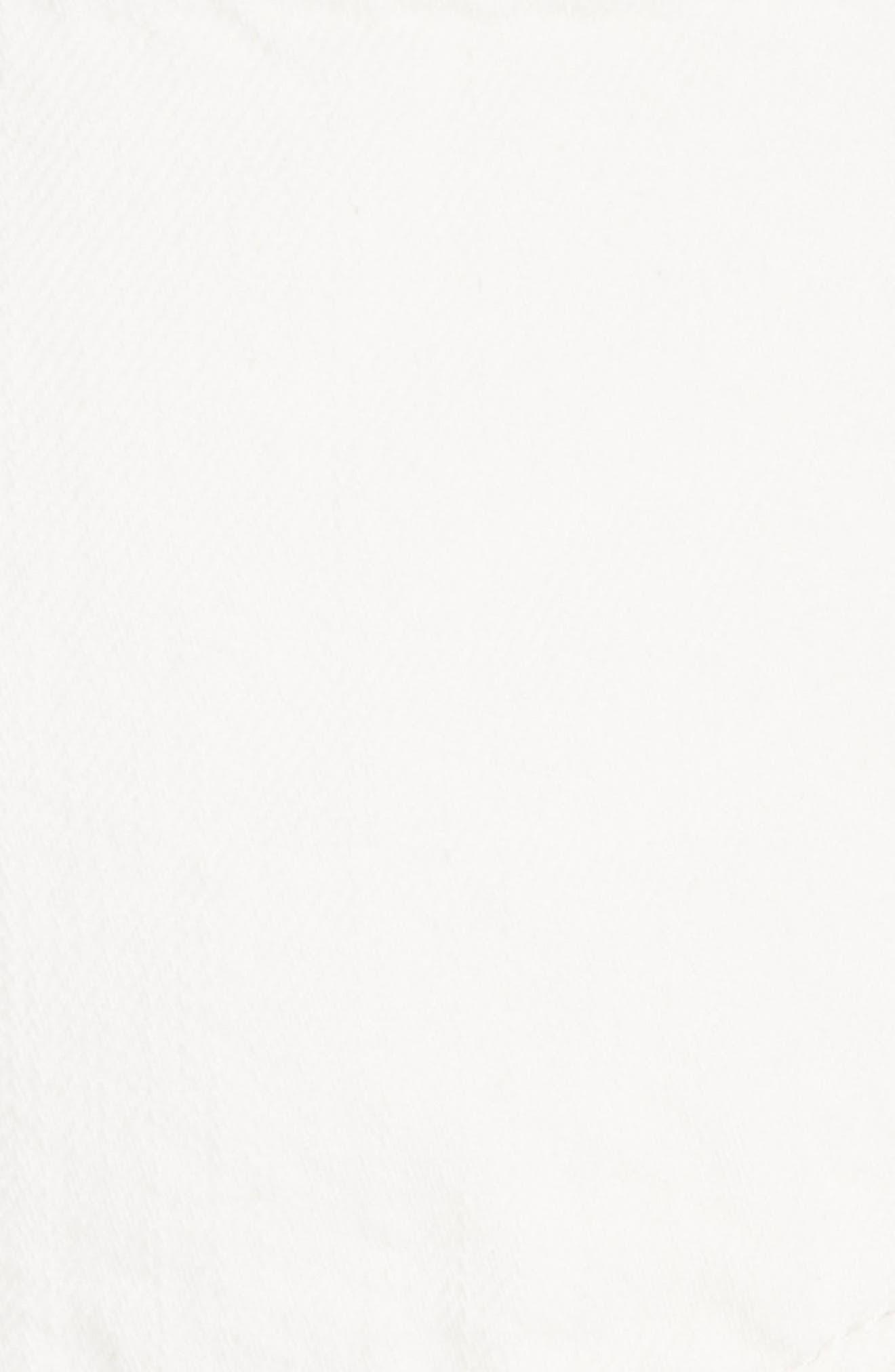 Cutoff Denim Shorts,                             Alternate thumbnail 6, color,                             White