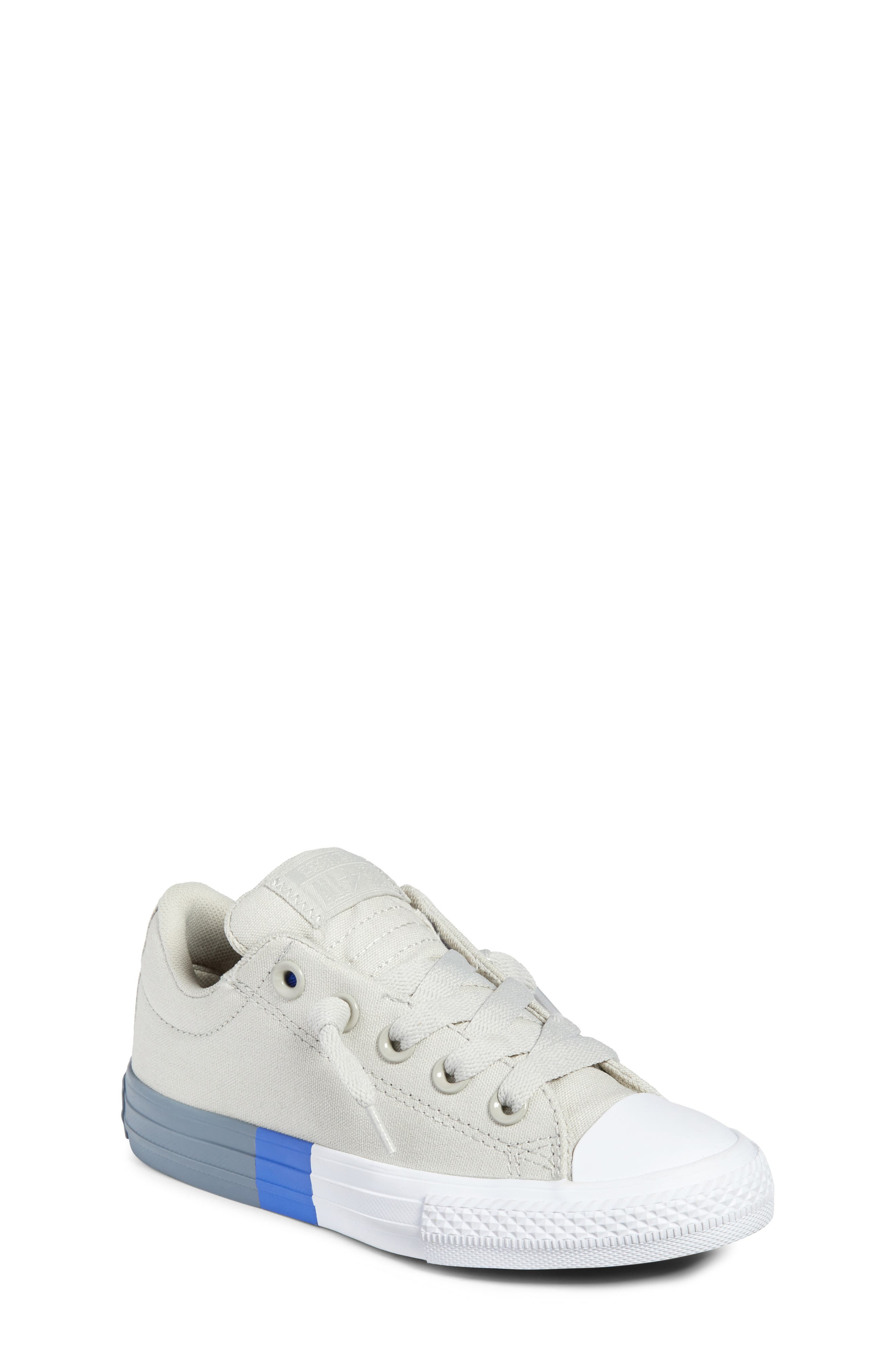 Chuck Taylor<sup>®</sup> All Star<sup>®</sup> Colorblock Street Sneaker,                             Main thumbnail 1, color,                             Pale Grey