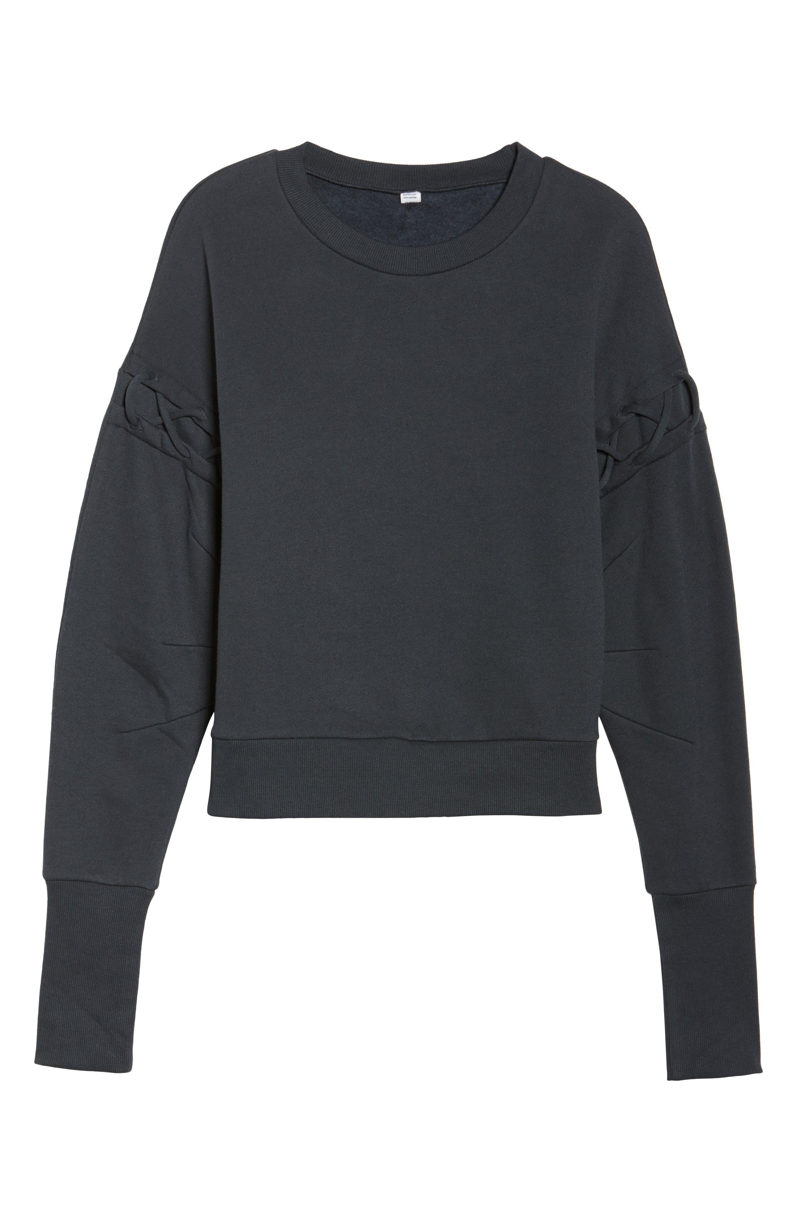 Alternate Image 5  - Alo Lattice Long Sleeve Pullover