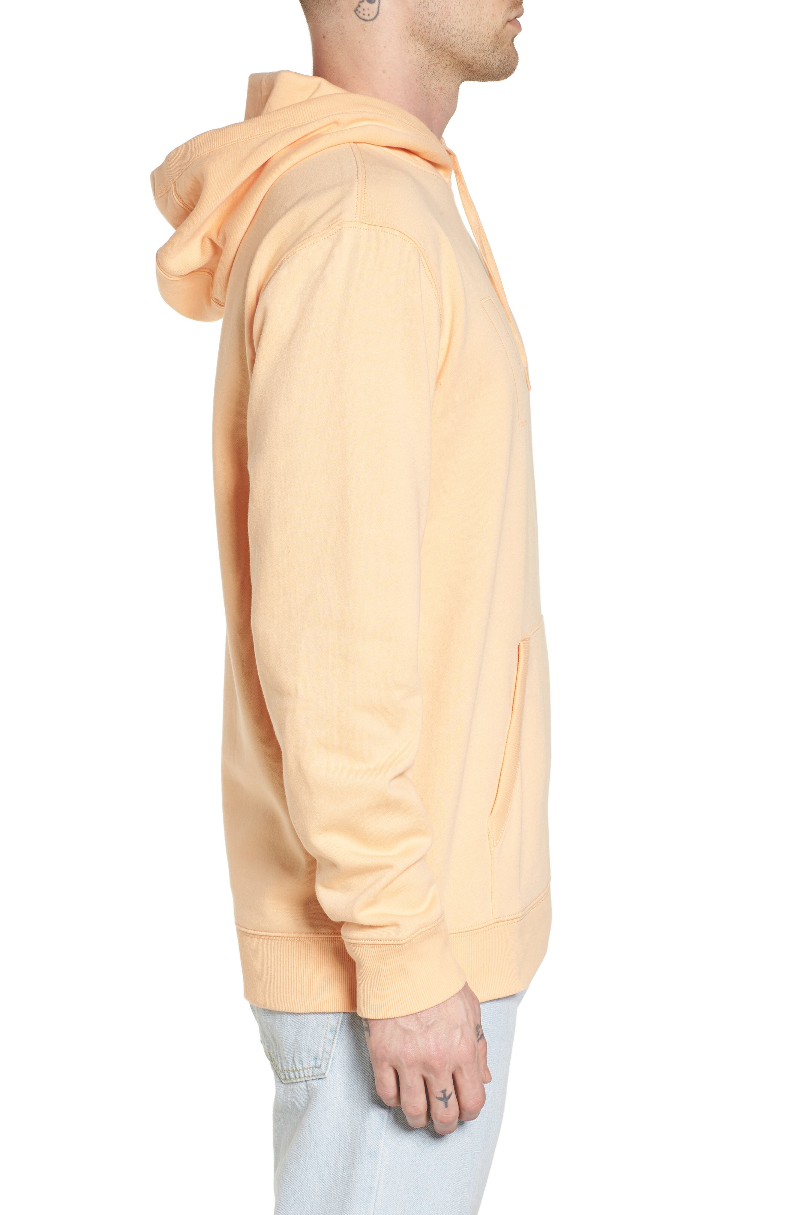 Classic Hoodie Sweatshirt,                             Alternate thumbnail 3, color,                             Apricot Ice