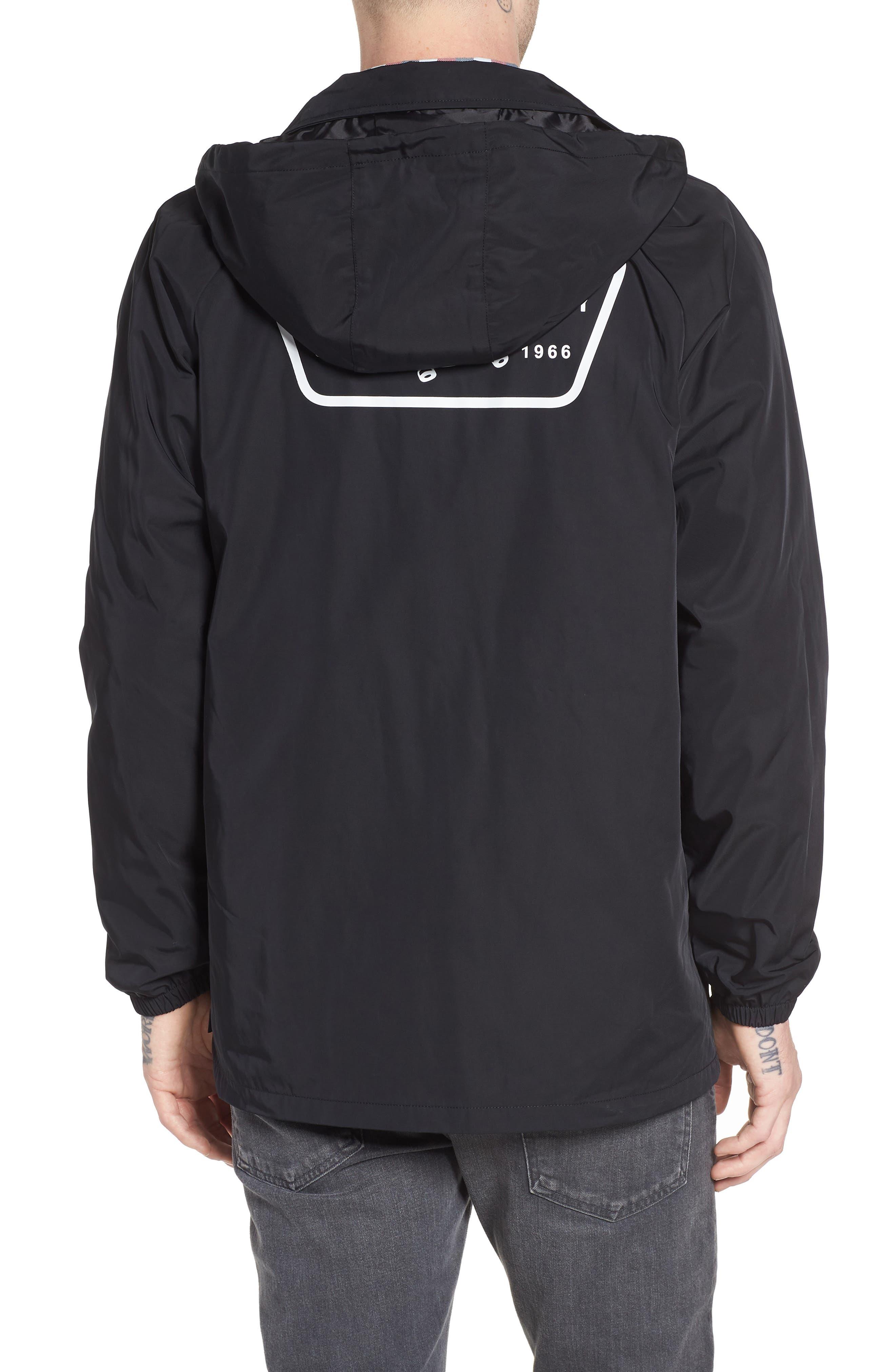Torrey Water-Resistant Hooded Jacket,                             Alternate thumbnail 2, color,                             Black