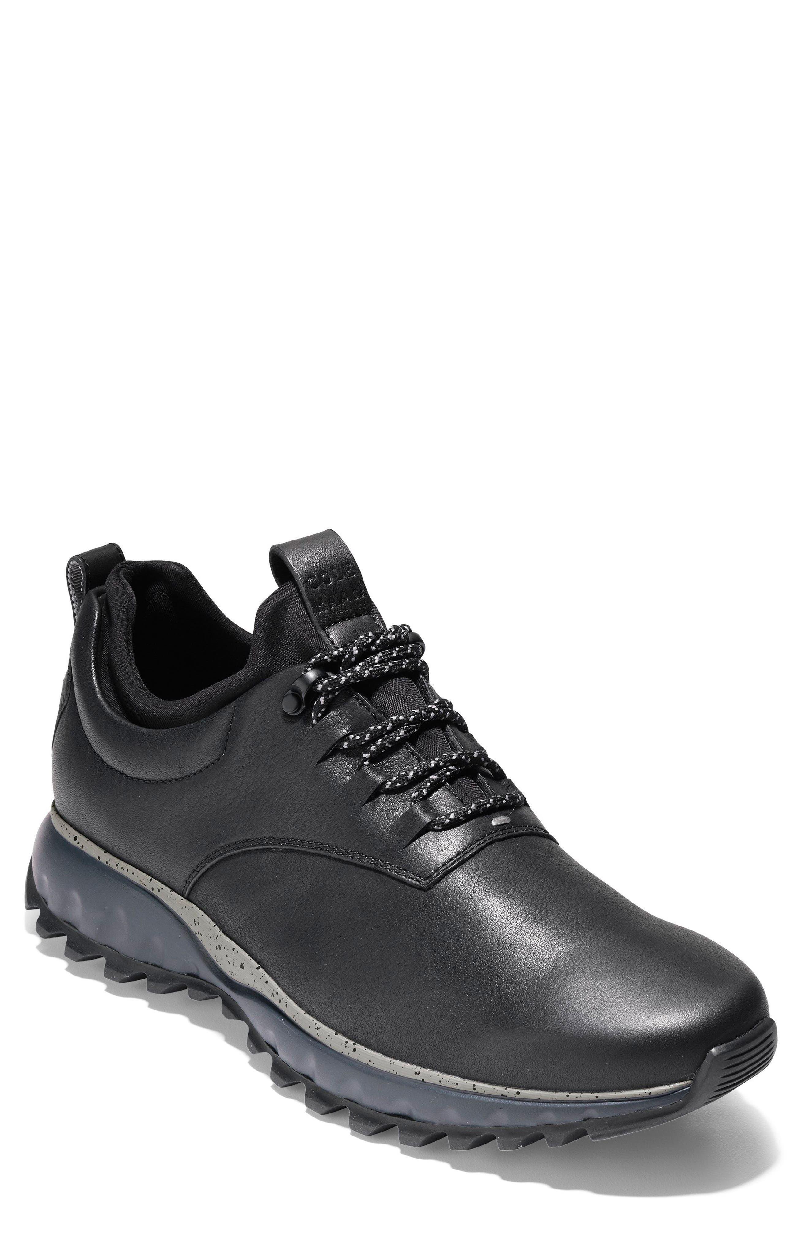 GrandExpløre All Terrain Waterproof Sneaker,                             Main thumbnail 1, color,                             Black/ Ironstone Leather
