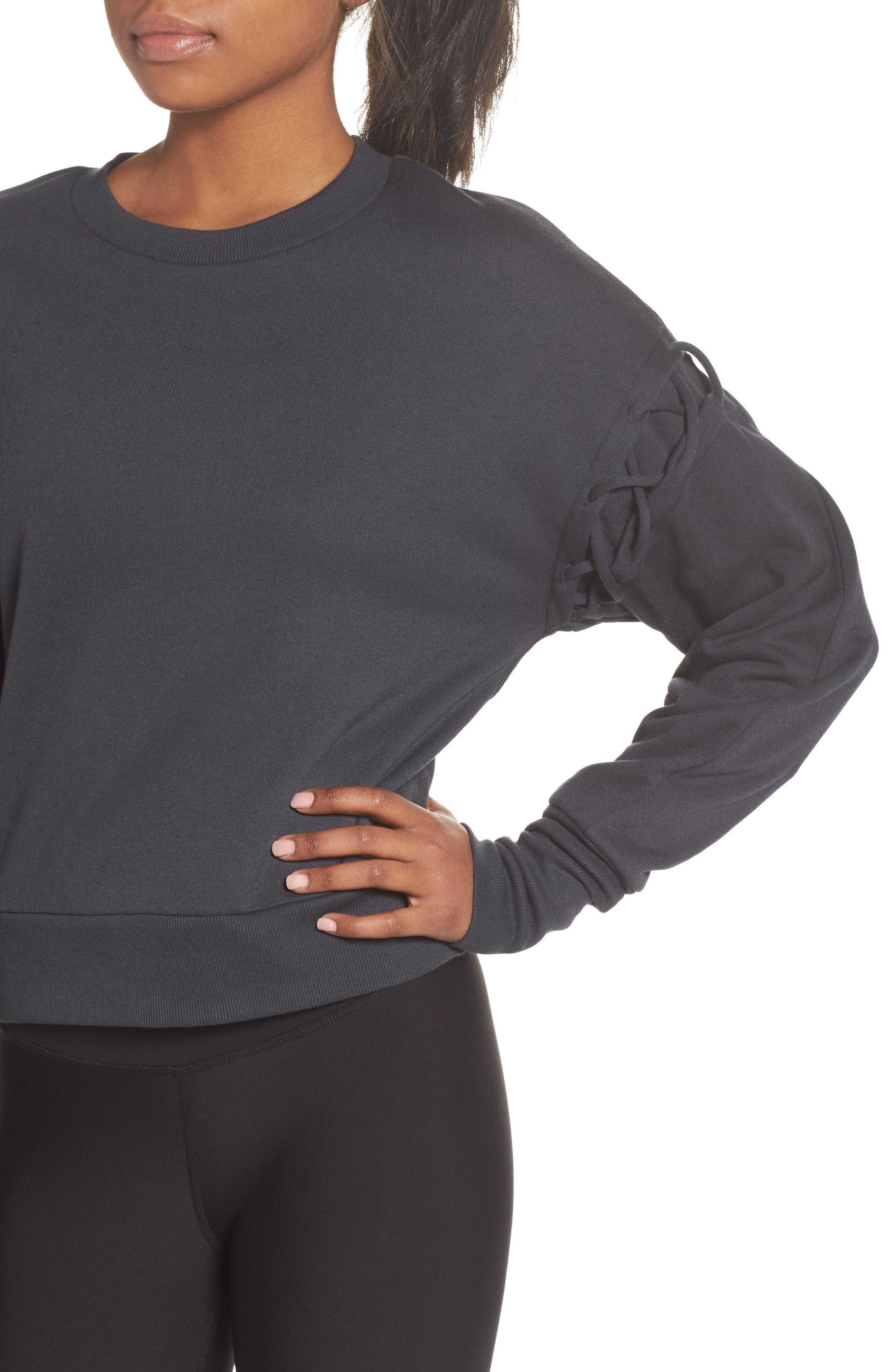 Alternate Image 3  - Alo Lattice Long Sleeve Pullover
