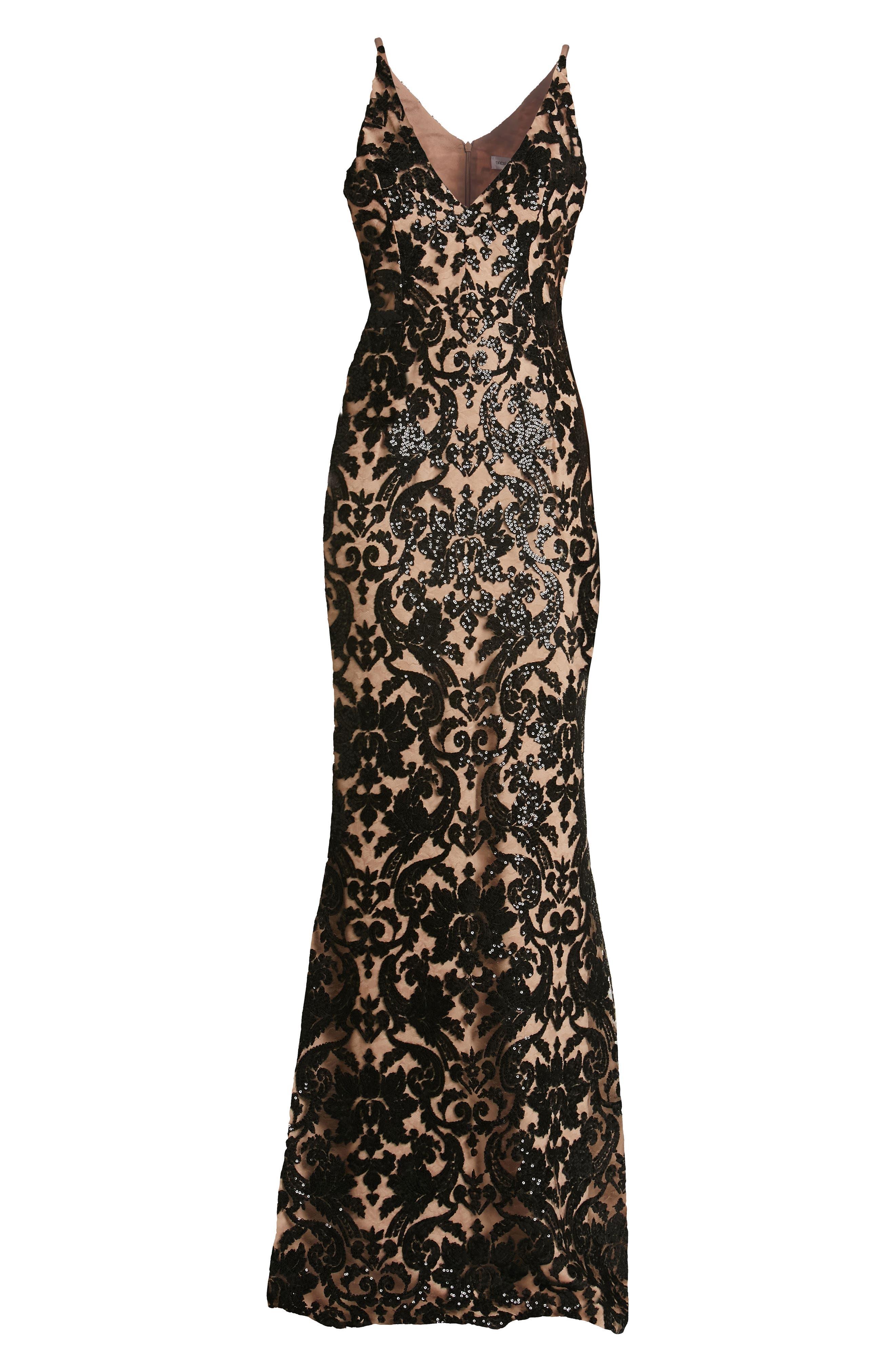 Alternate Image 6  - Dress the Population Karen Mermaid Gown