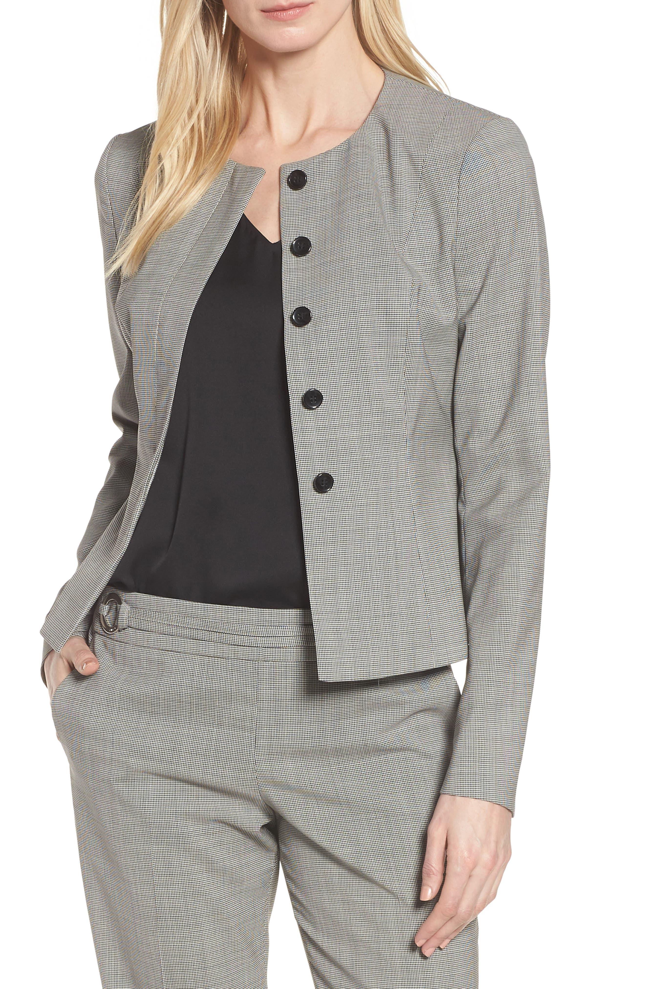 Javilla Stretch Wool Suit Jacket,                         Main,                         color, Black Fantasy