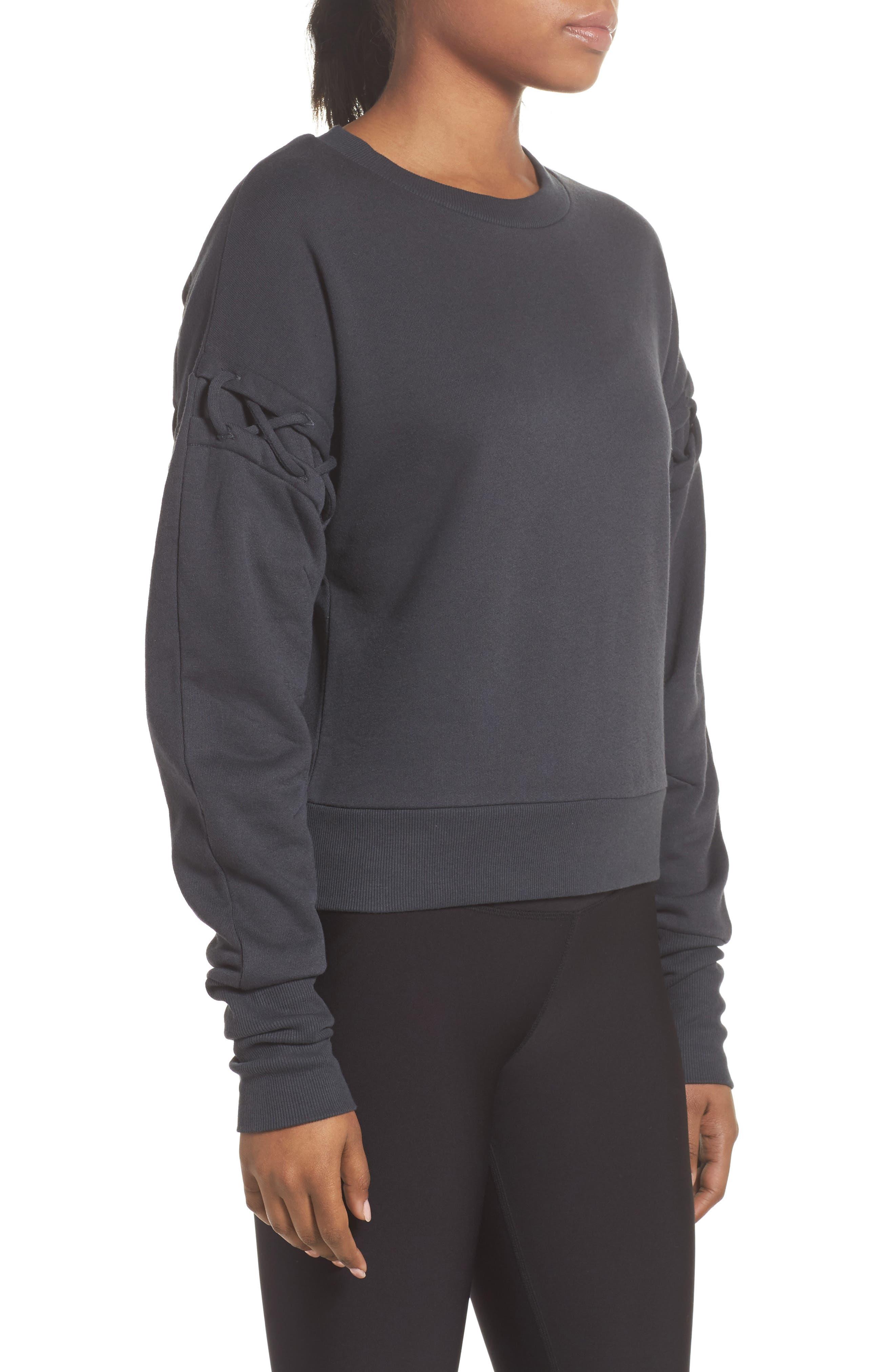 Alternate Image 2  - Alo Lattice Long Sleeve Pullover