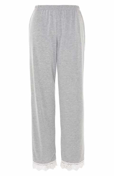 Topshop Crochet Trim Pajama Pants