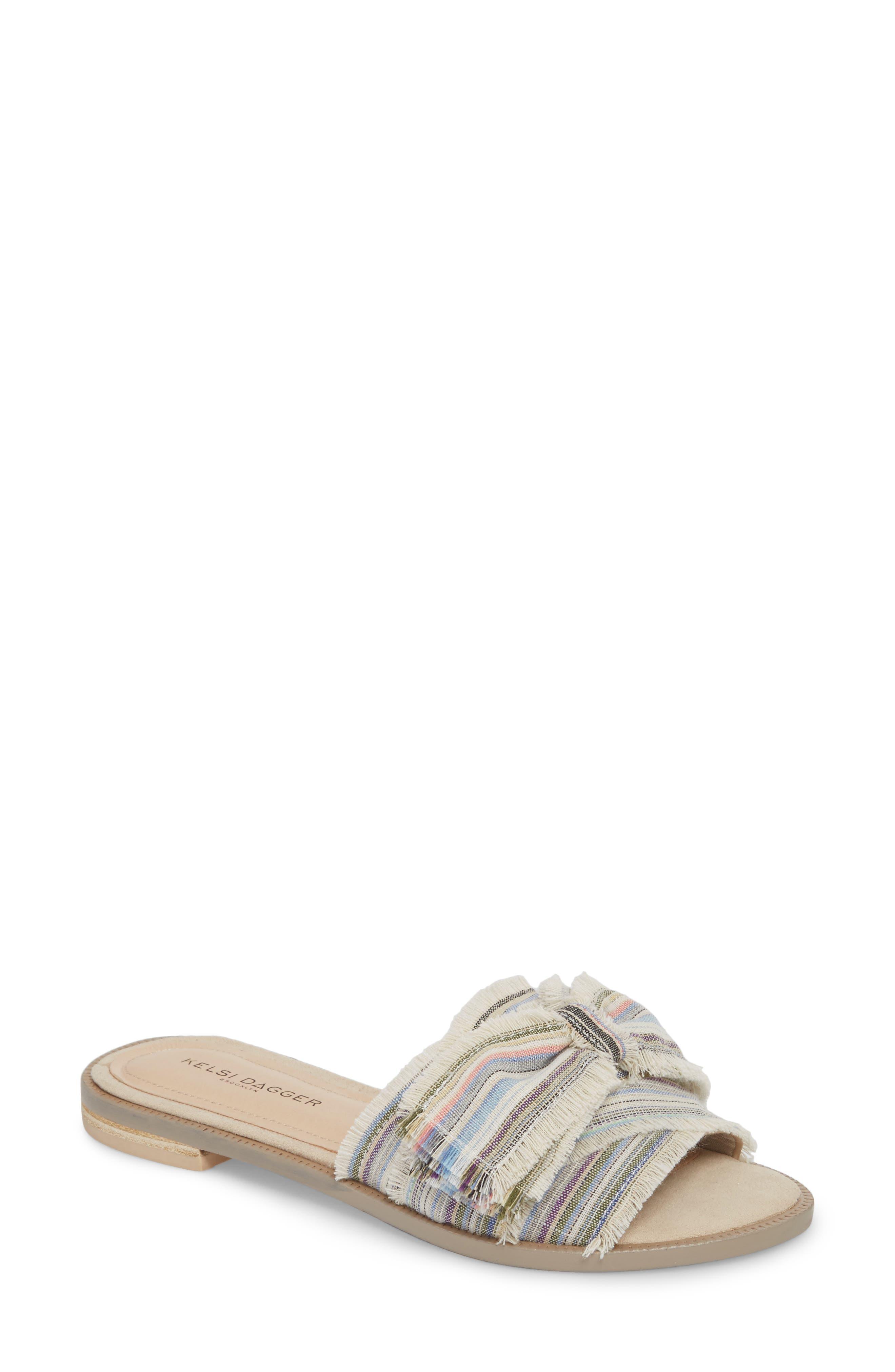 Revere Bow Slide Sandal,                         Main,                         color, Bone/ Multi