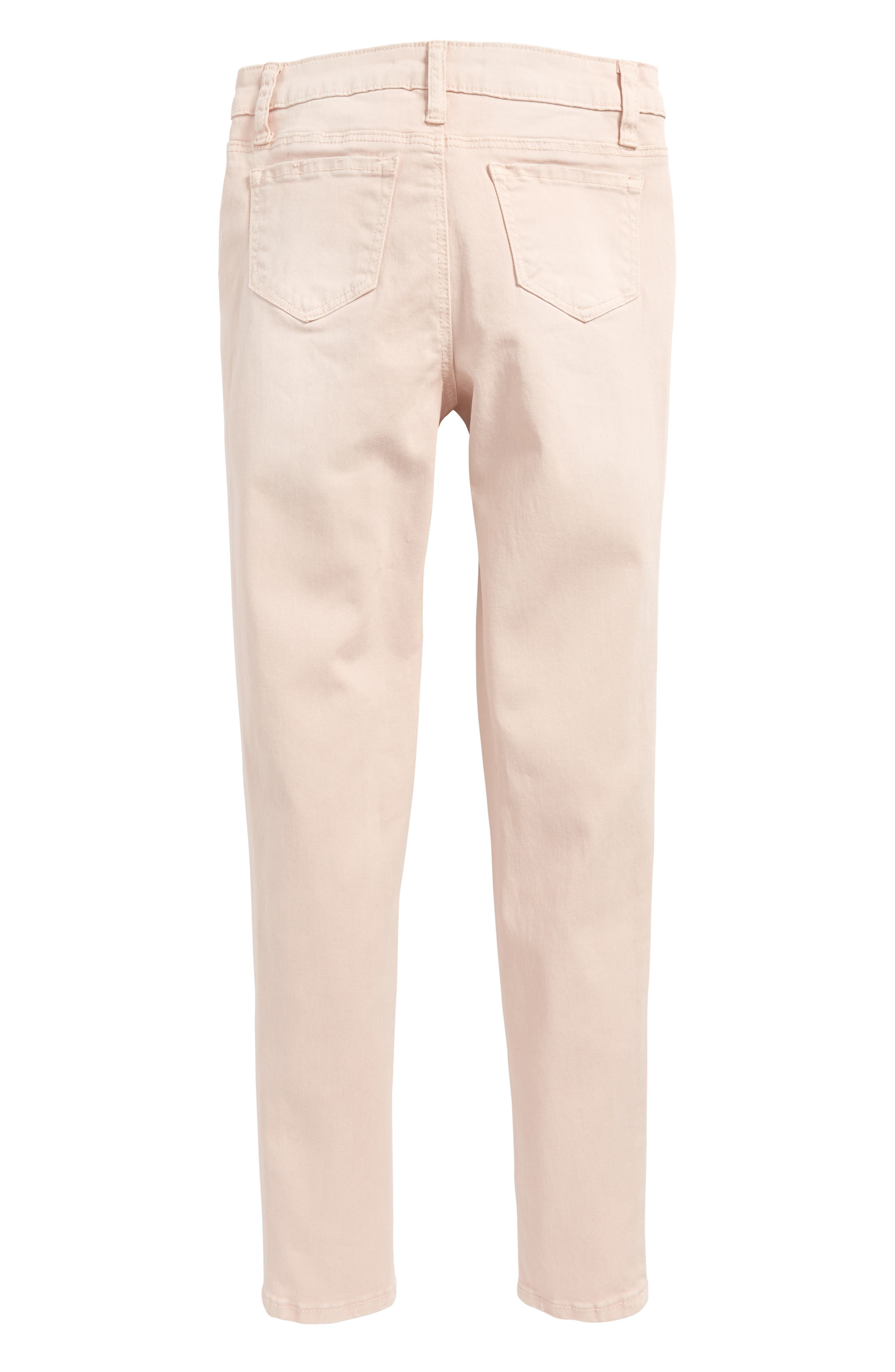 Colored Ankle Jeans,                             Alternate thumbnail 3, color,                             Pink Pixie Wash