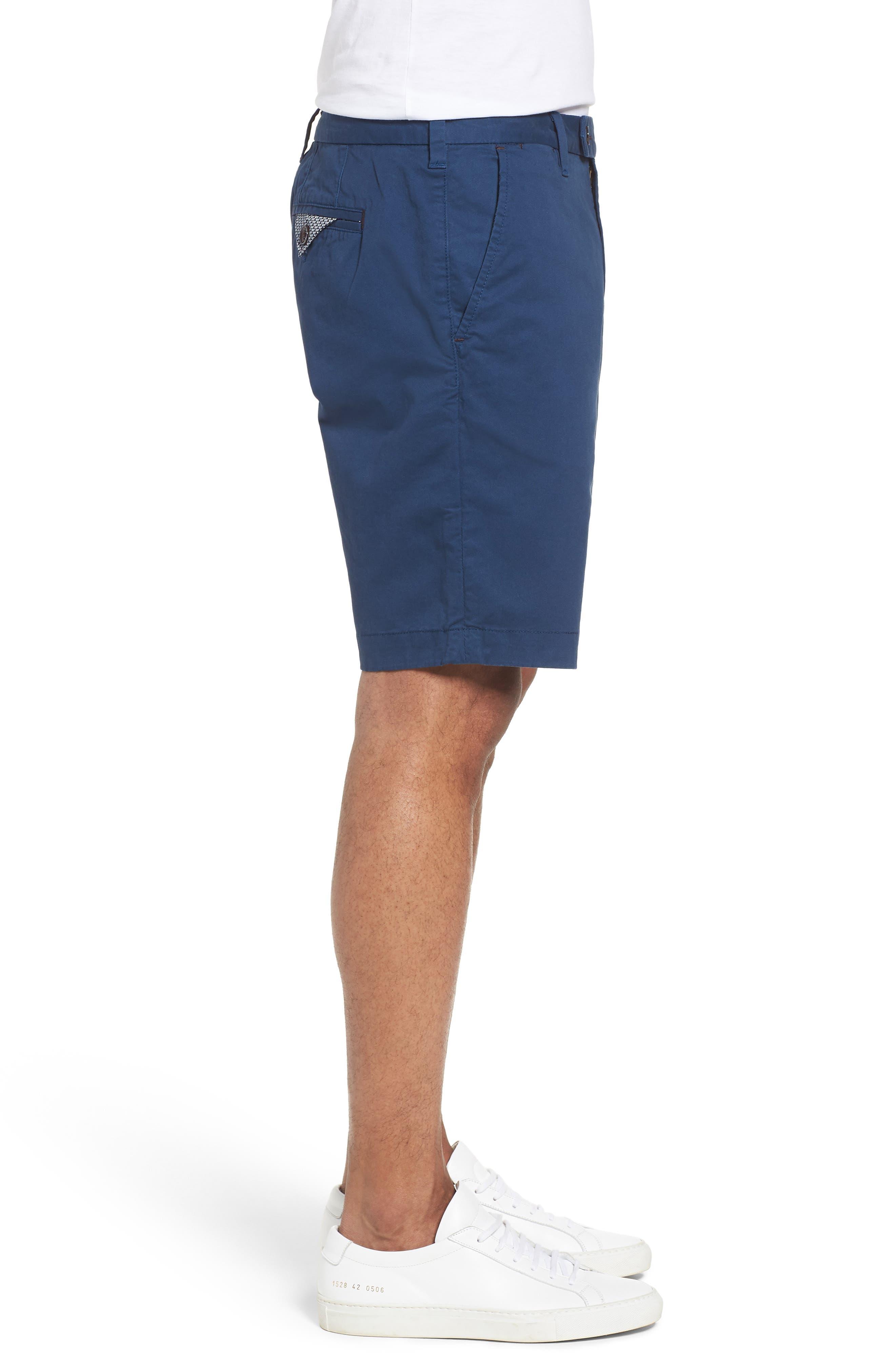 Proshor Slim Fit Chino Shorts,                             Alternate thumbnail 4, color,                             Dark Blue