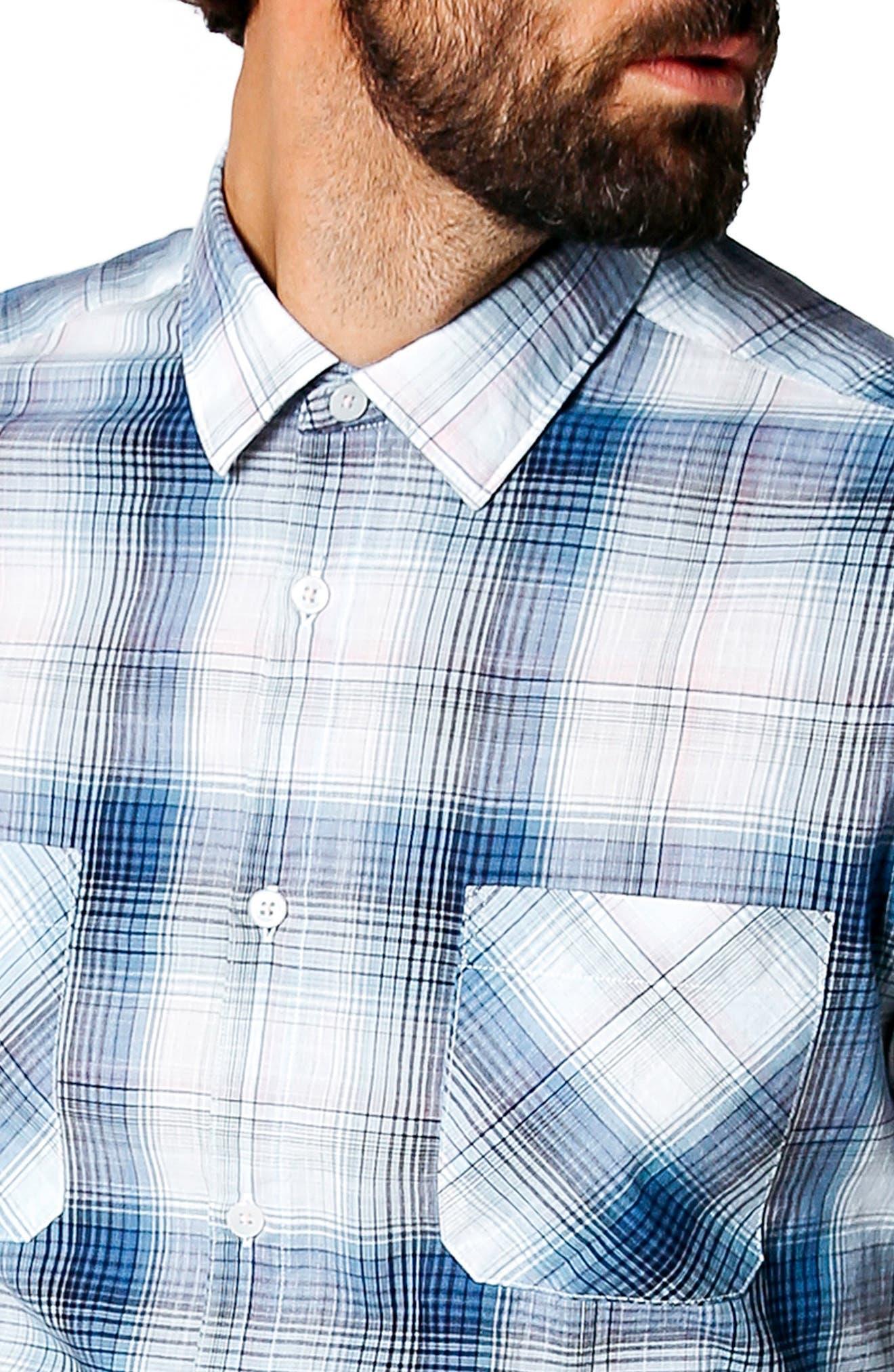 Alternate Image 4  - Good Man Brand Trim Fit Plaid Sport Shirt