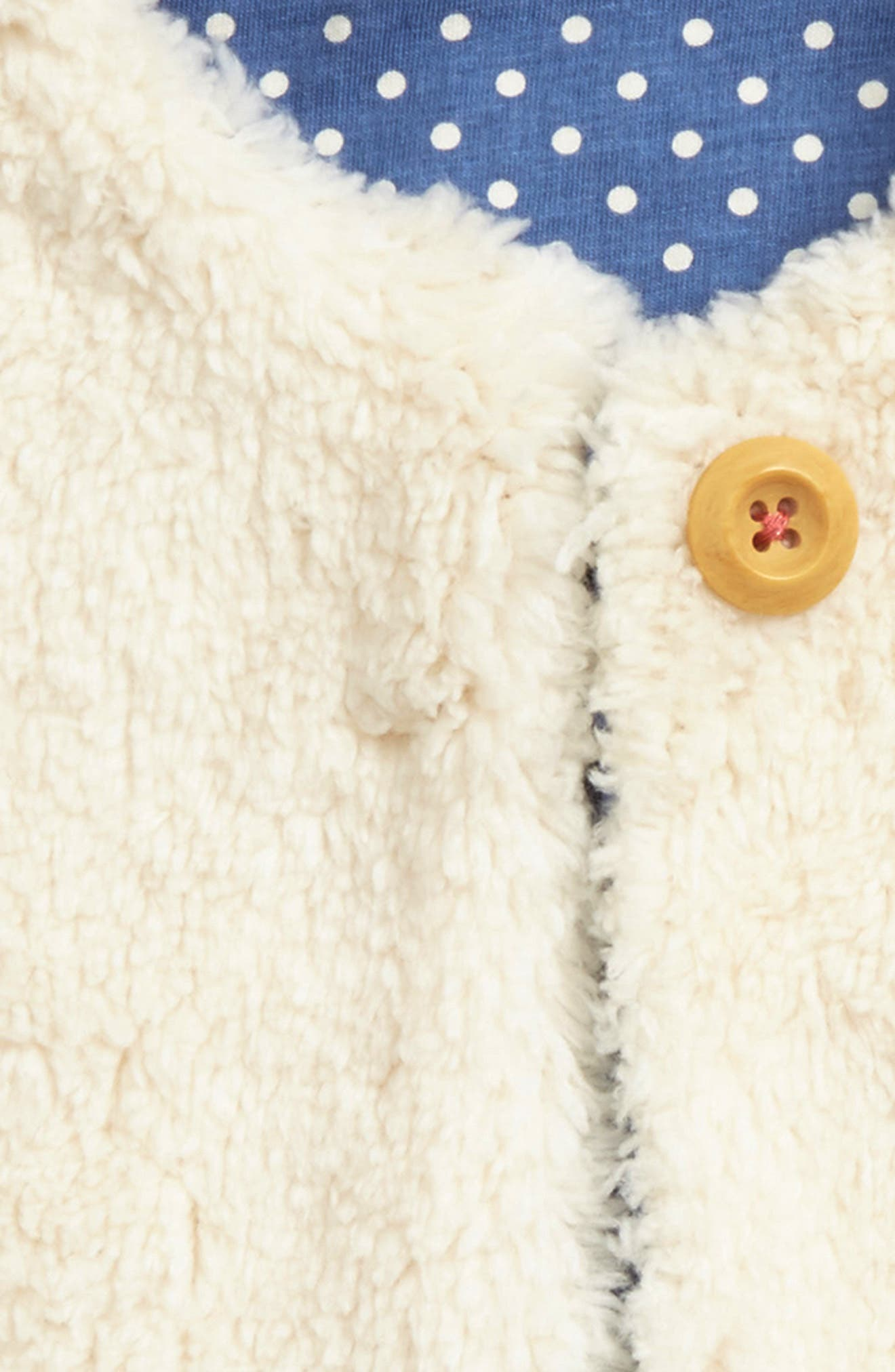Fuzzy Reversible Vest,                             Alternate thumbnail 3, color,                             Ecru