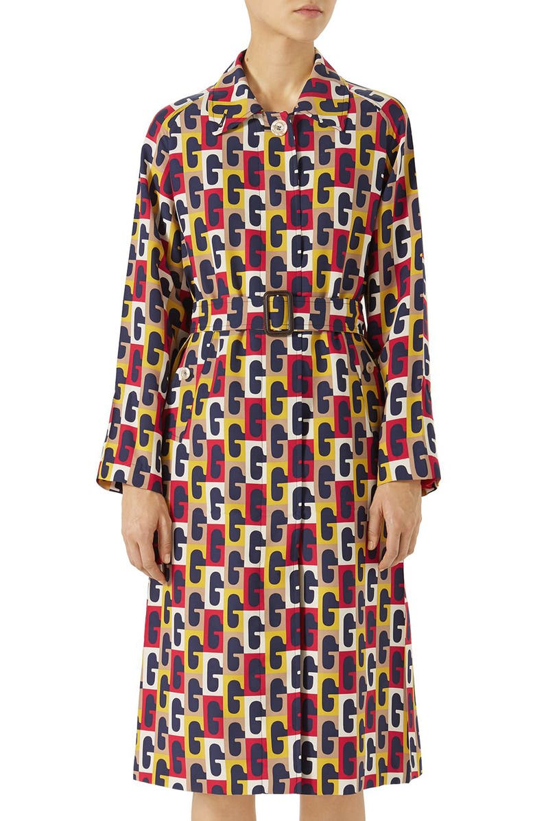 G-Sequence Print Trench Coat