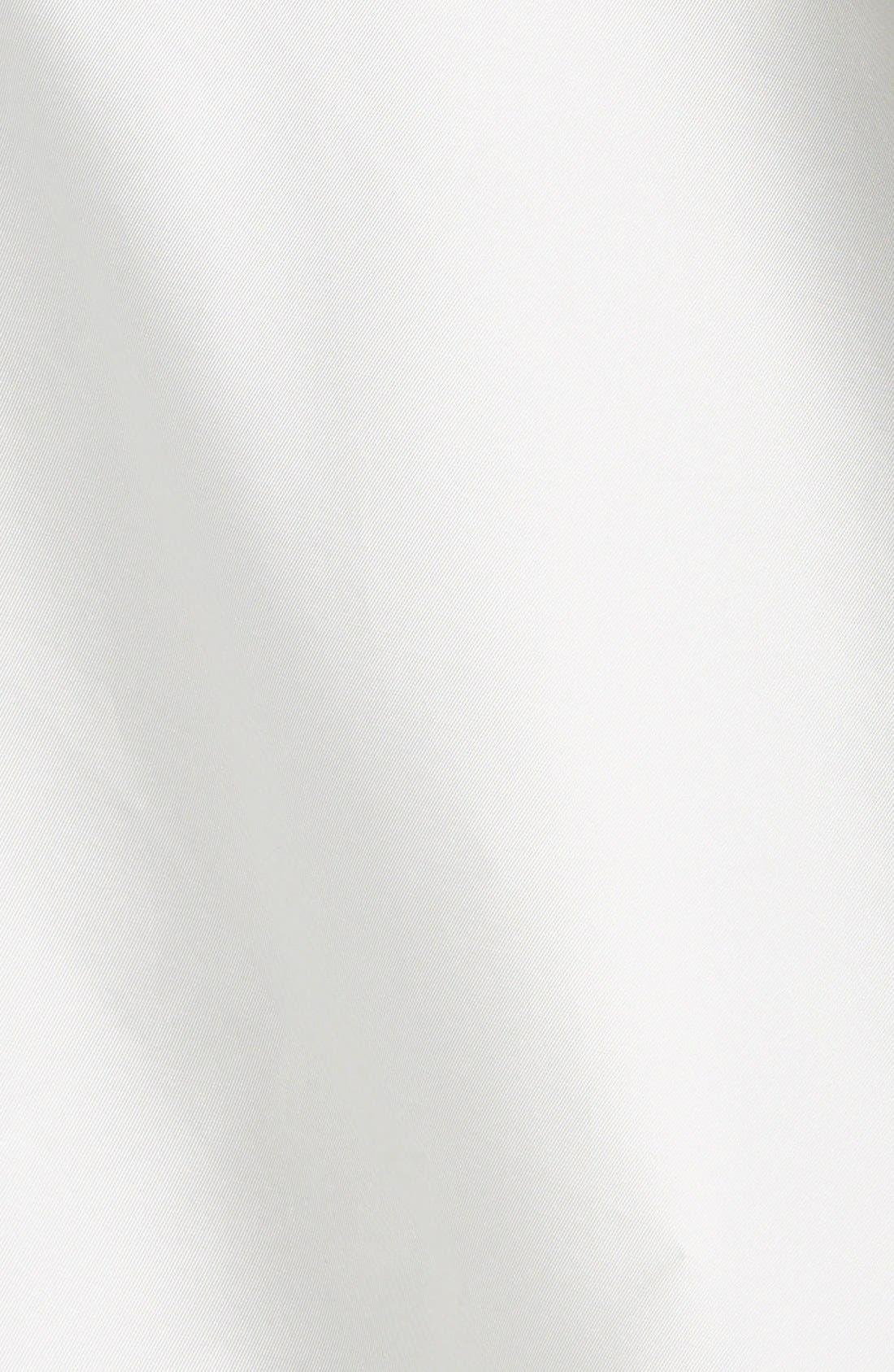 Bow Detail Mikado Dress,                             Alternate thumbnail 3, color,                             Ivory