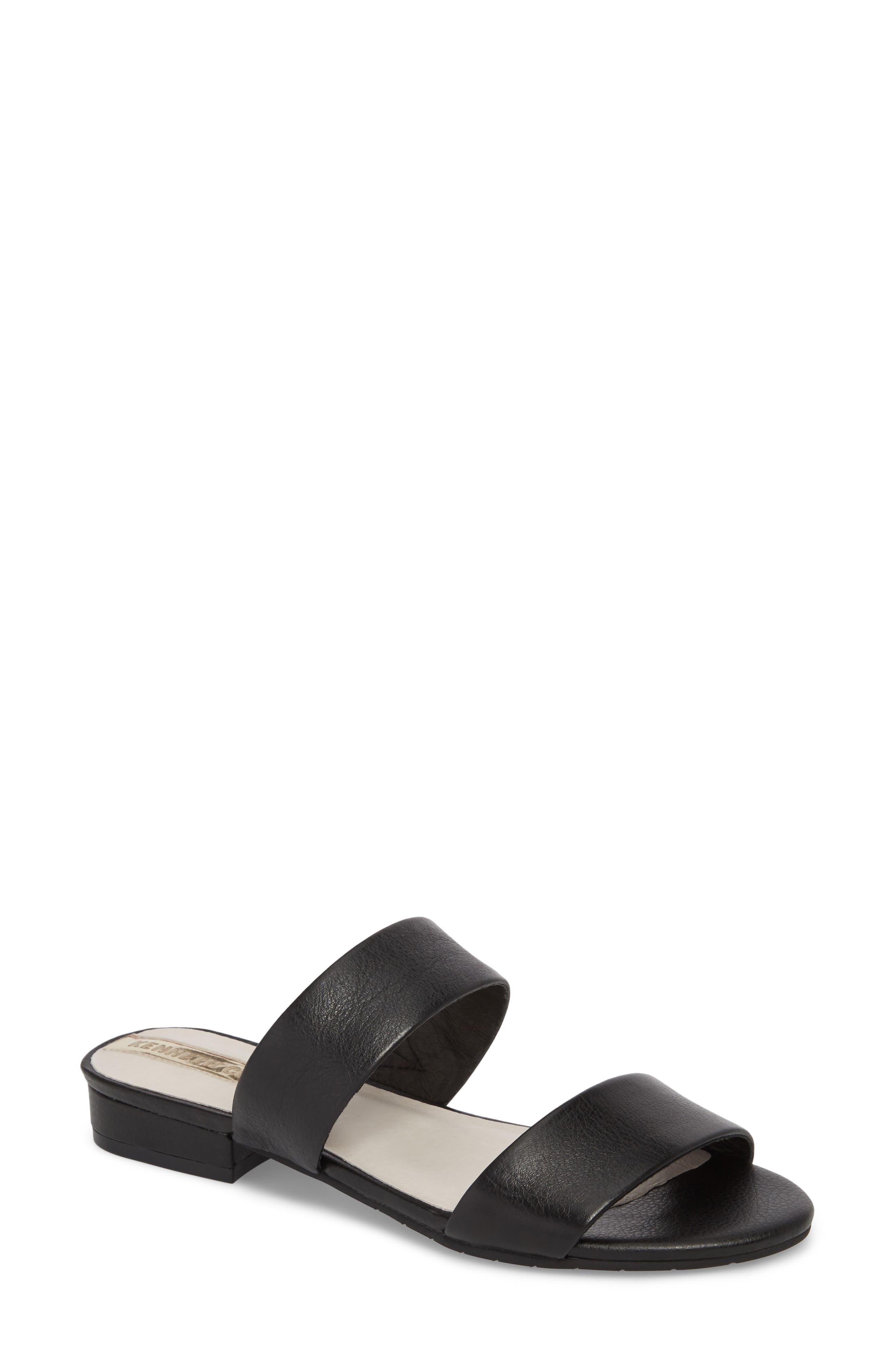 Viola Sandal,                         Main,                         color, Black Leather