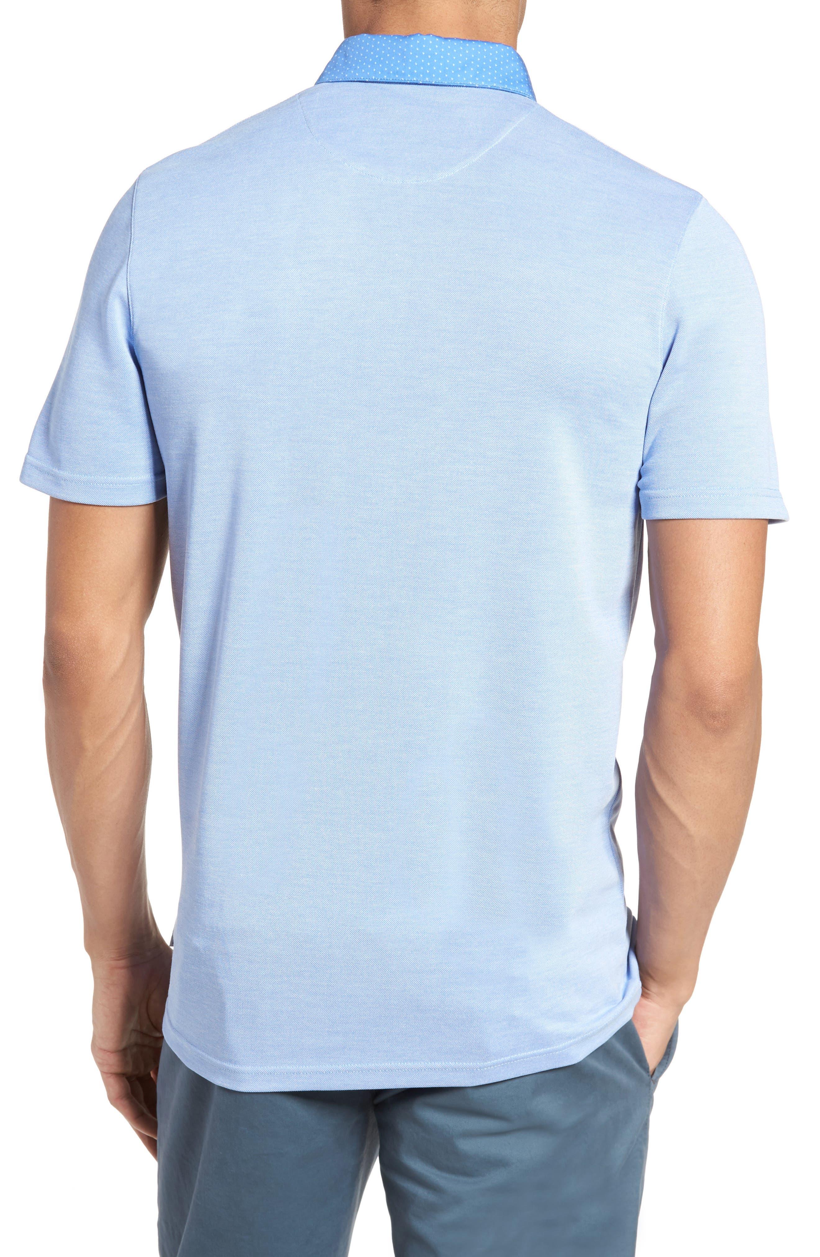 Mikeytt Trim Fit Polo,                             Alternate thumbnail 2, color,                             Bright Blue