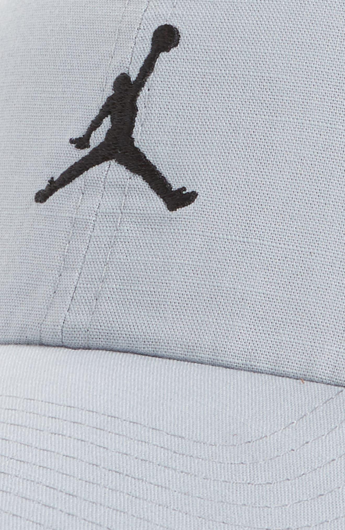 Jordan H86 Jumpman Washed Baseball Cap,                             Alternate thumbnail 3, color,                             Wolf Grey/ Black