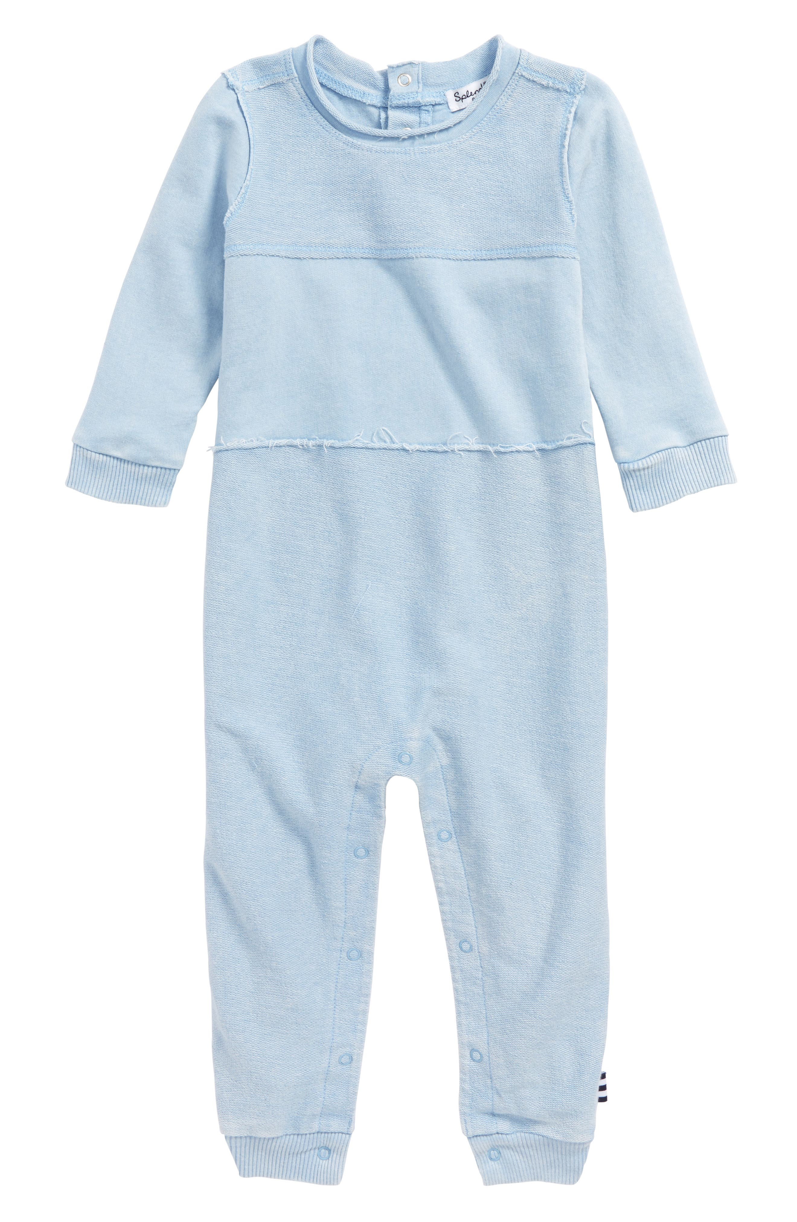 French Terry Romper,                             Main thumbnail 1, color,                             Water