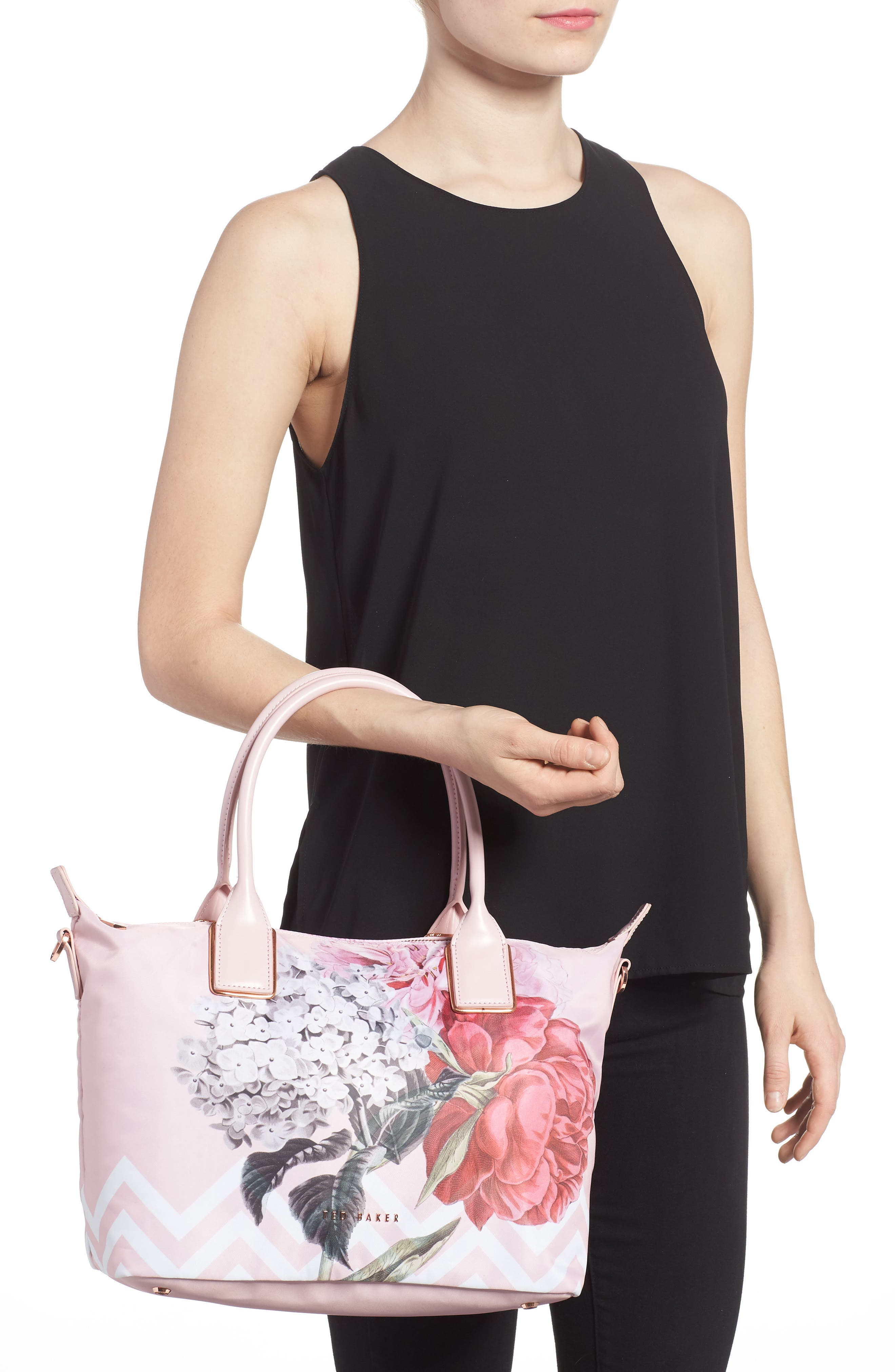 Small Palace Gardens Tote,                             Alternate thumbnail 2, color,                             Dusky Pink