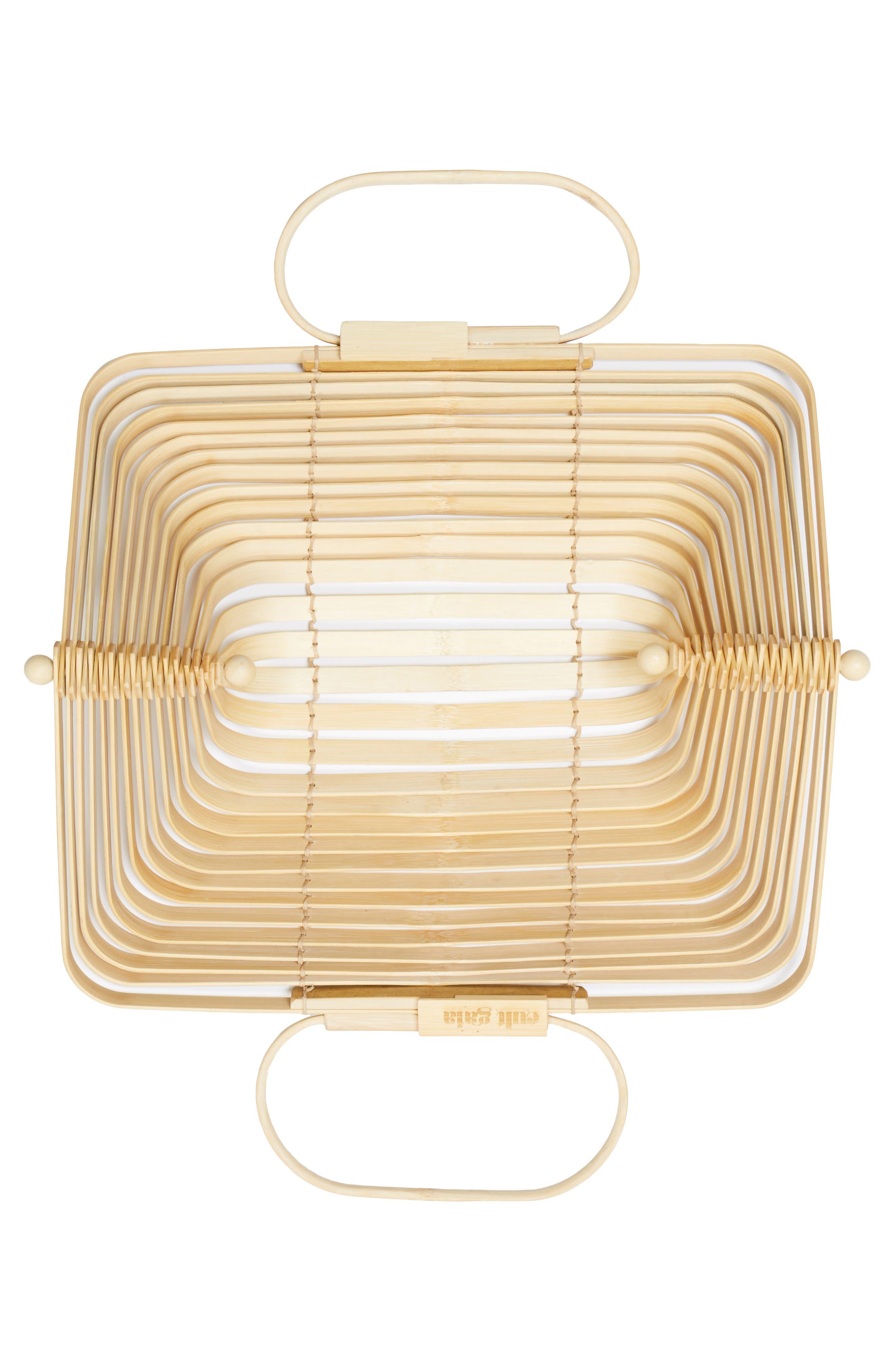 The Lilleth Bamboo Handbag,                             Alternate thumbnail 6, color,                             Natural