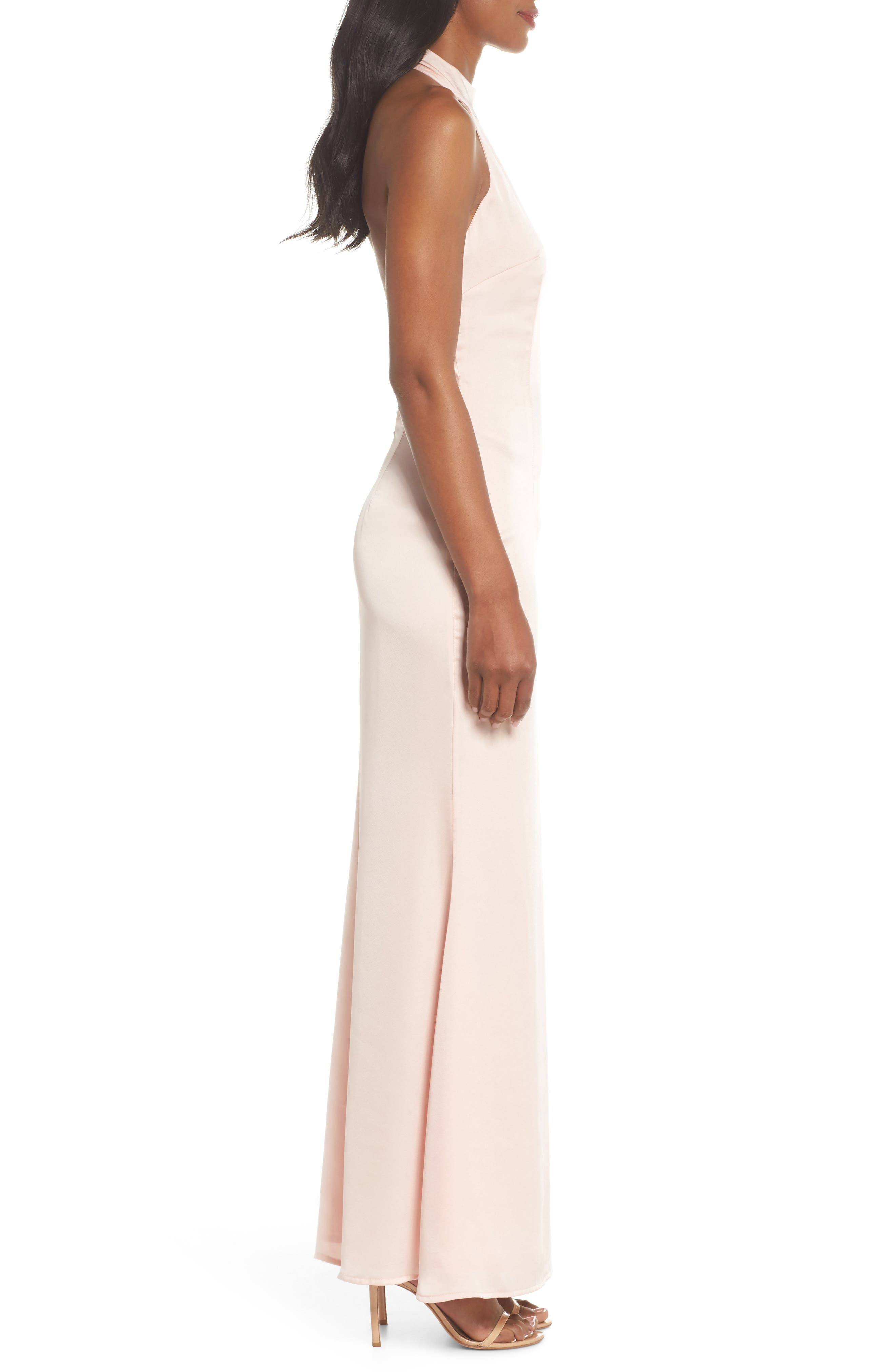 Alternate Image 3  - Jarlo Tenny Halter Column Gown