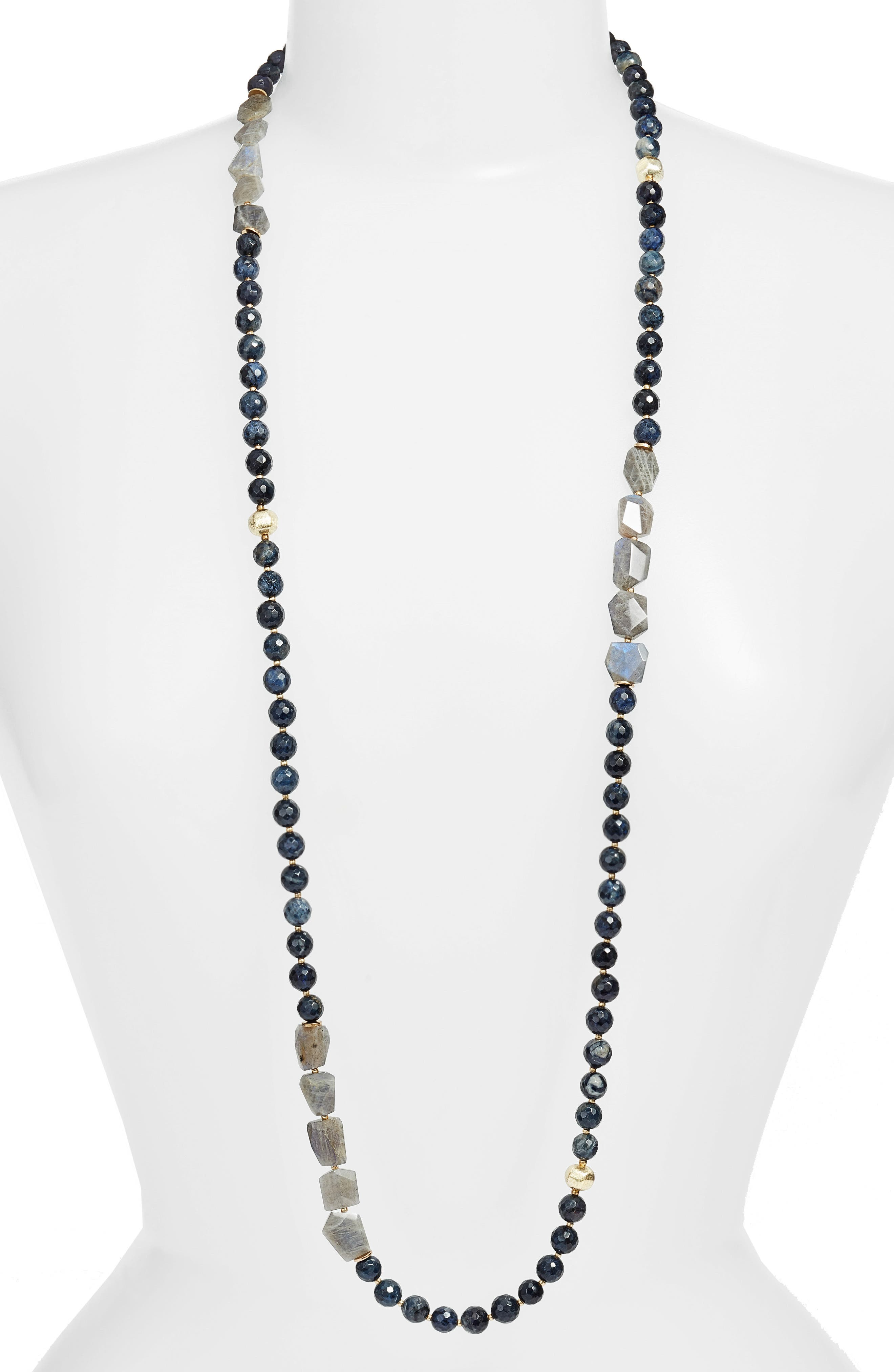 Love's Affect Heather Semiprecious Stone Necklace