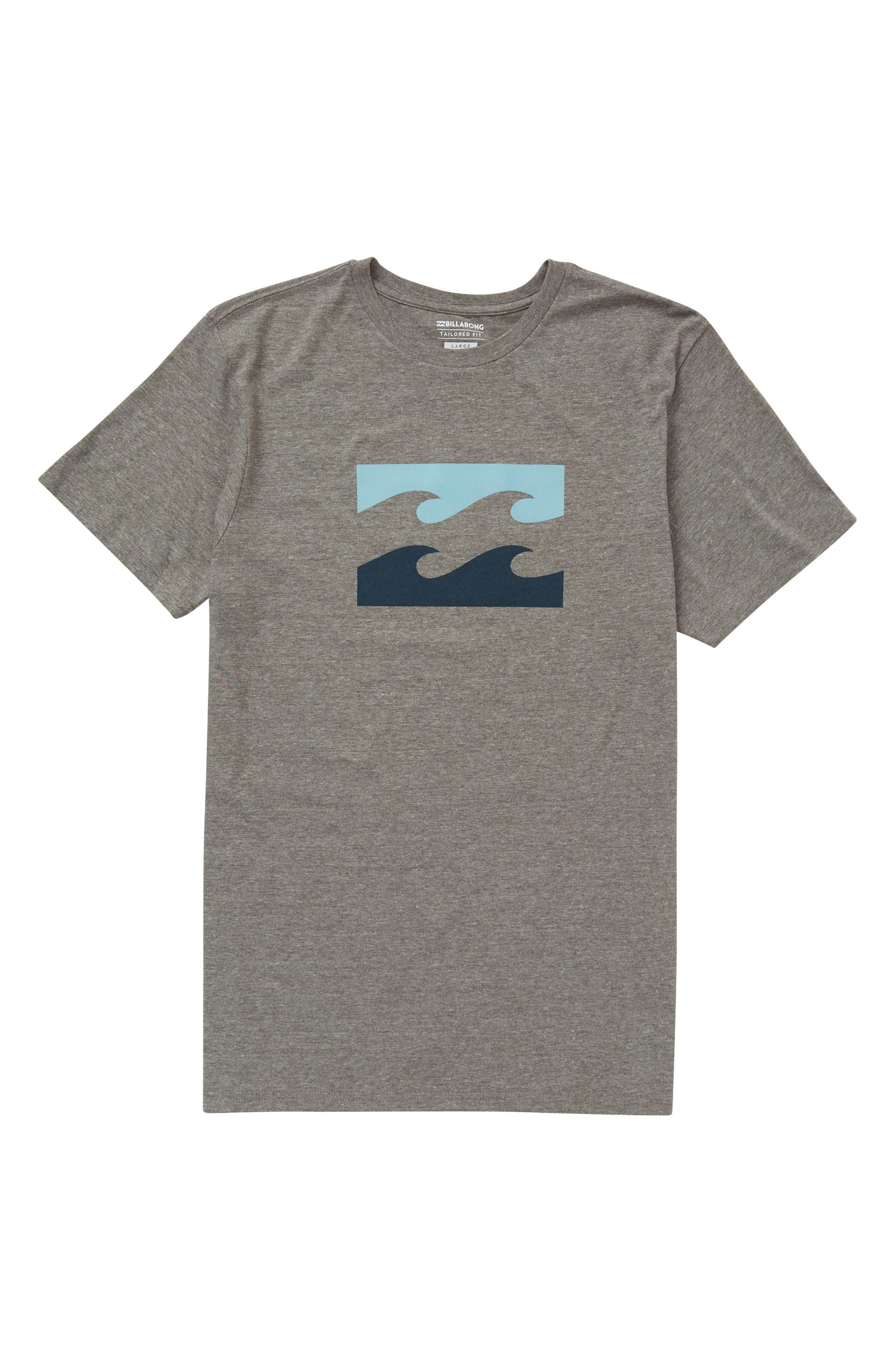 Wave T-Shirt,                             Main thumbnail 1, color,                             Dark Grey Heather