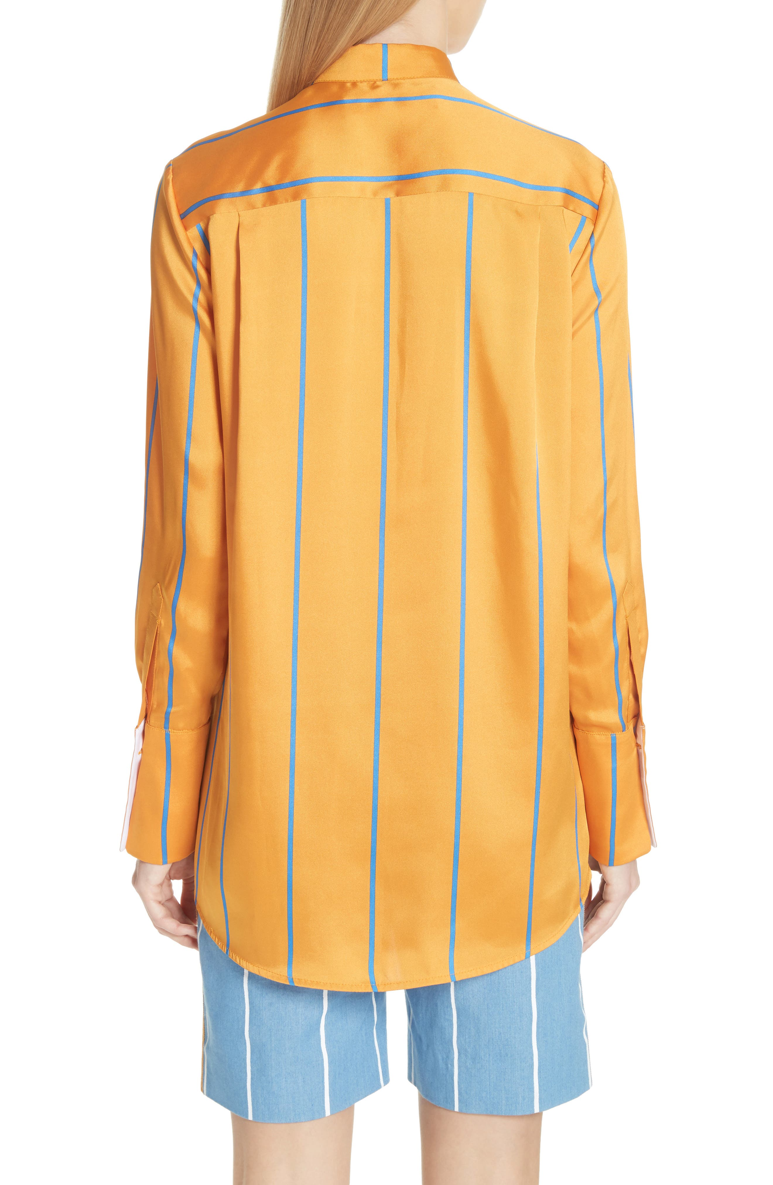 Alternate Image 2  - Victoria, Victoria Beckham Stripe Shirt