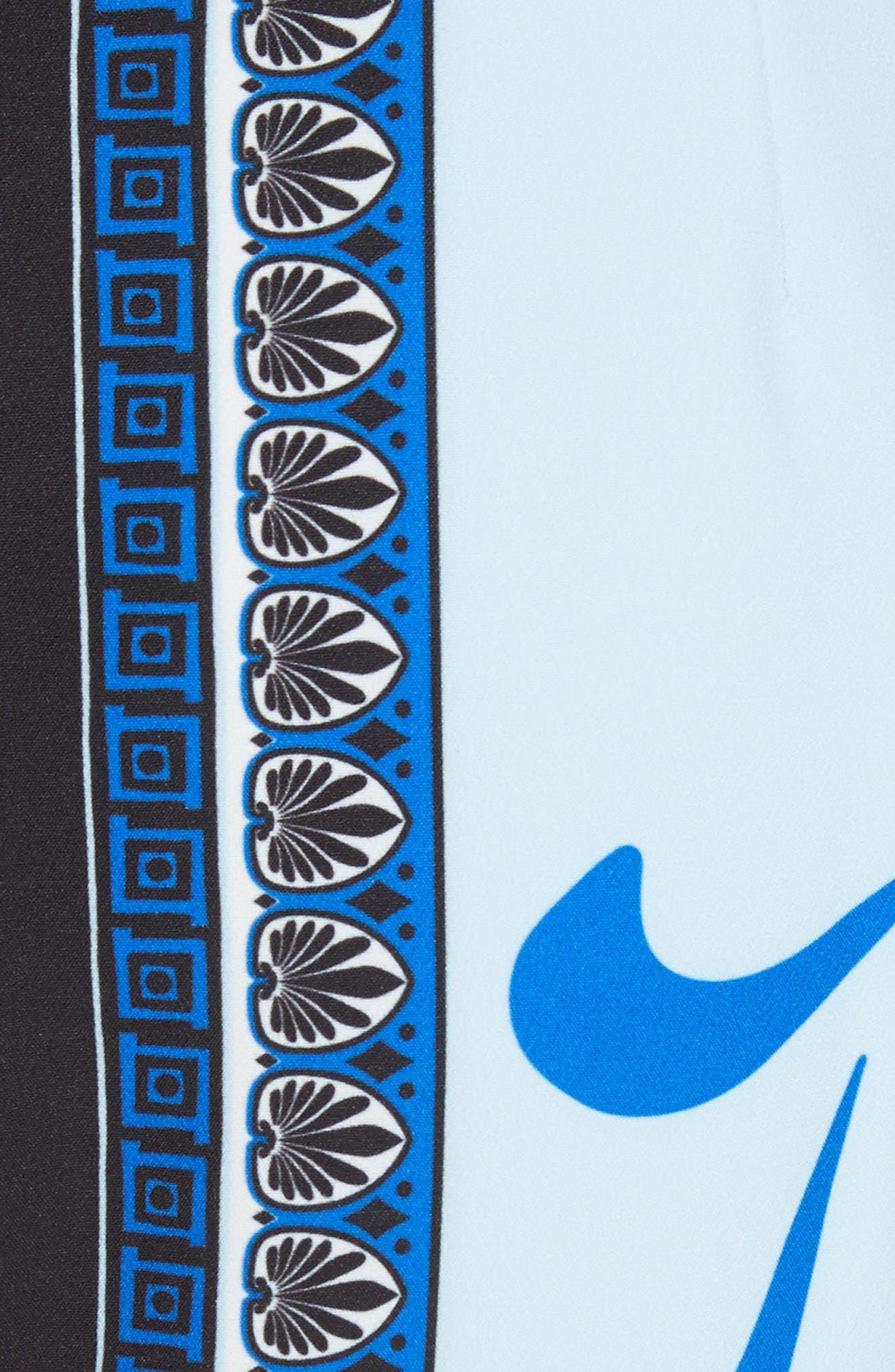 Eros Cady Pencil Skirt,                             Alternate thumbnail 5, color,                             Light Blue/ Print
