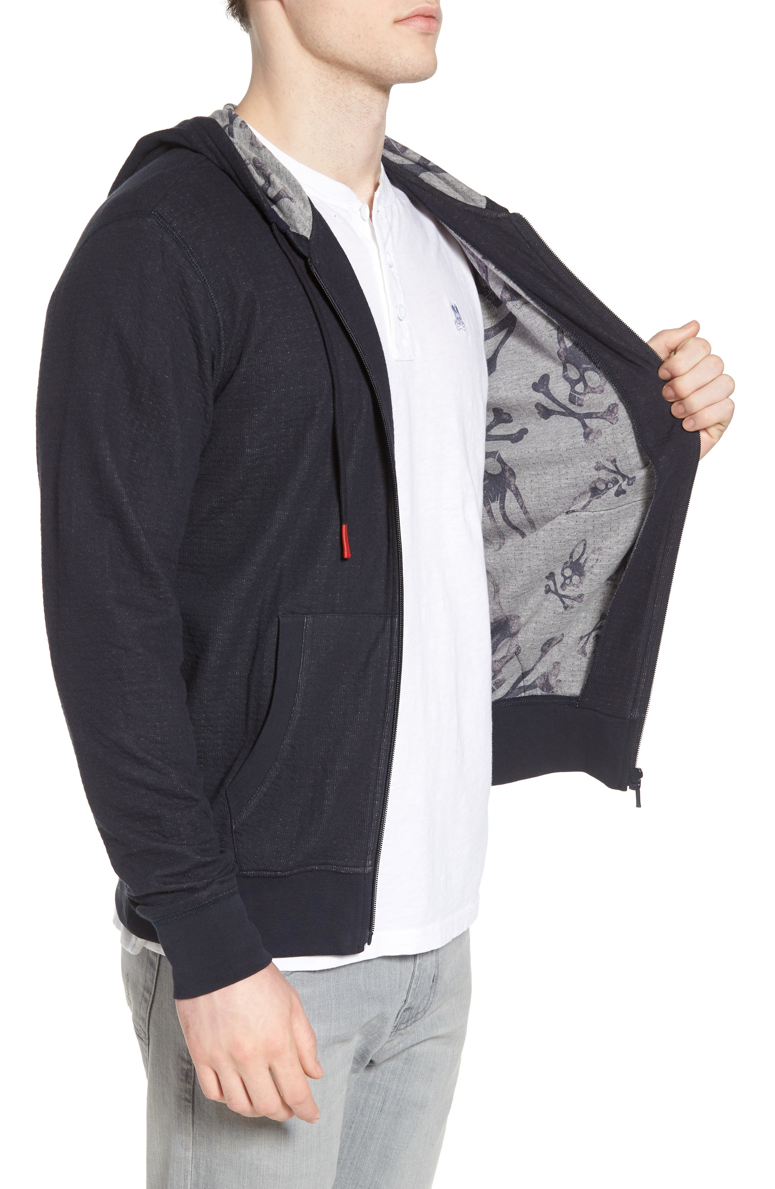Double Face Hoodie,                             Alternate thumbnail 3, color,                             Navy