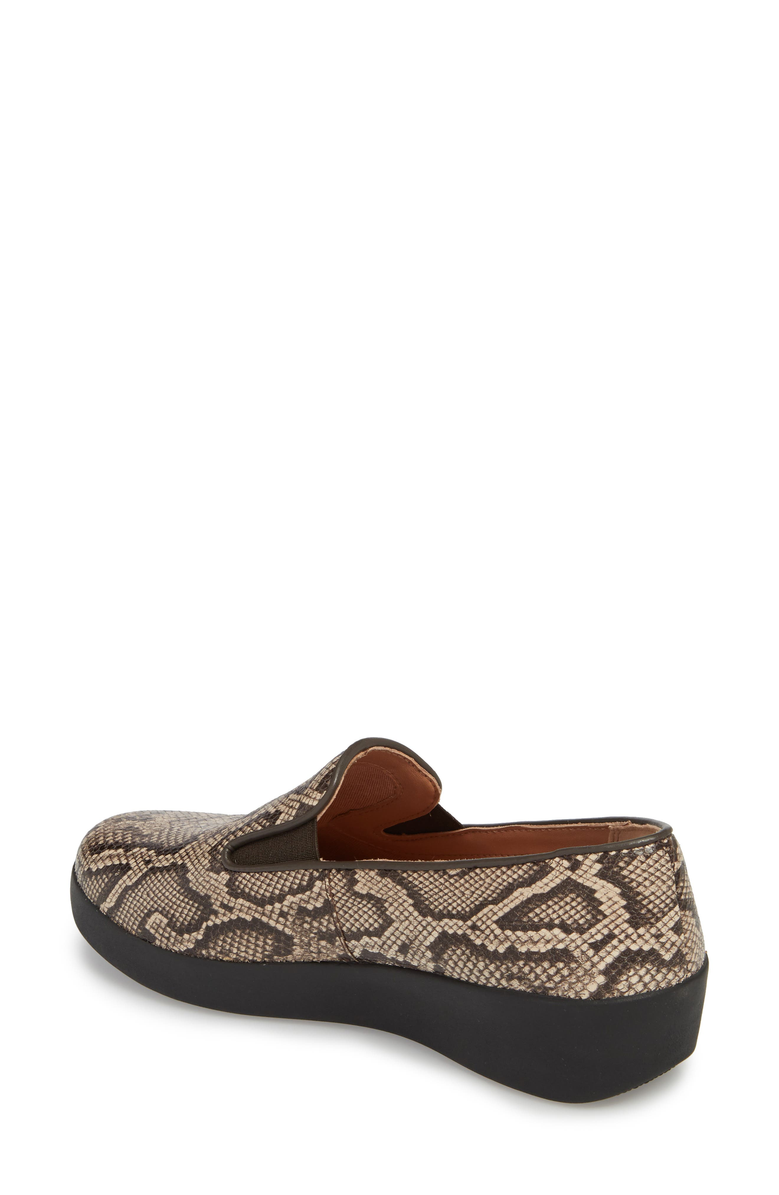 SuperSkate<sup>™</sup> Loafer,                             Alternate thumbnail 2, color,                             Taupe Snake Print Leather