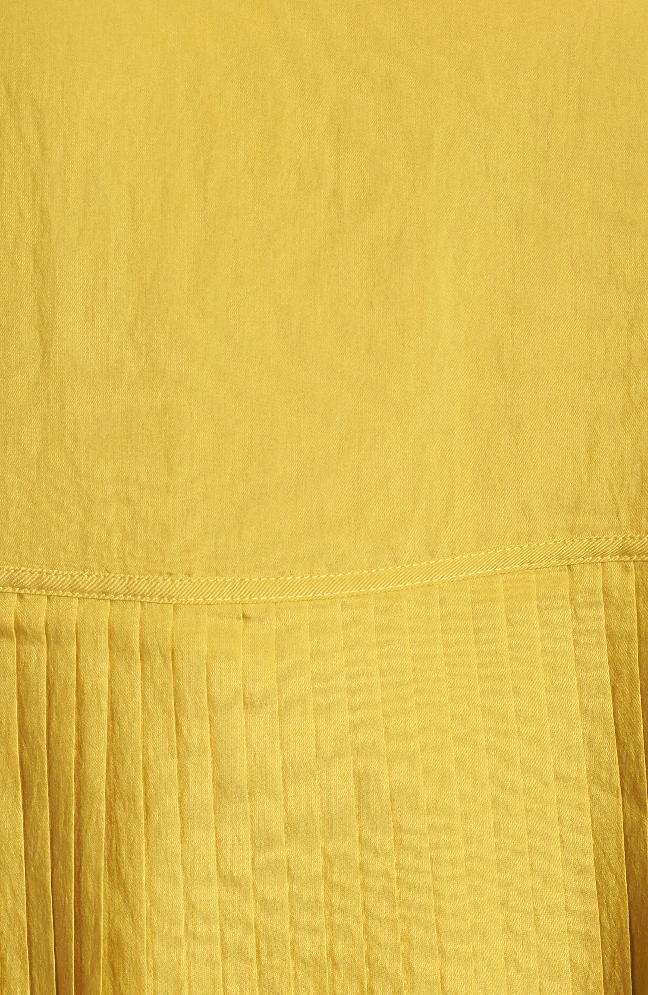 Pleat Ruffle Top,                             Alternate thumbnail 5, color,                             Yellow