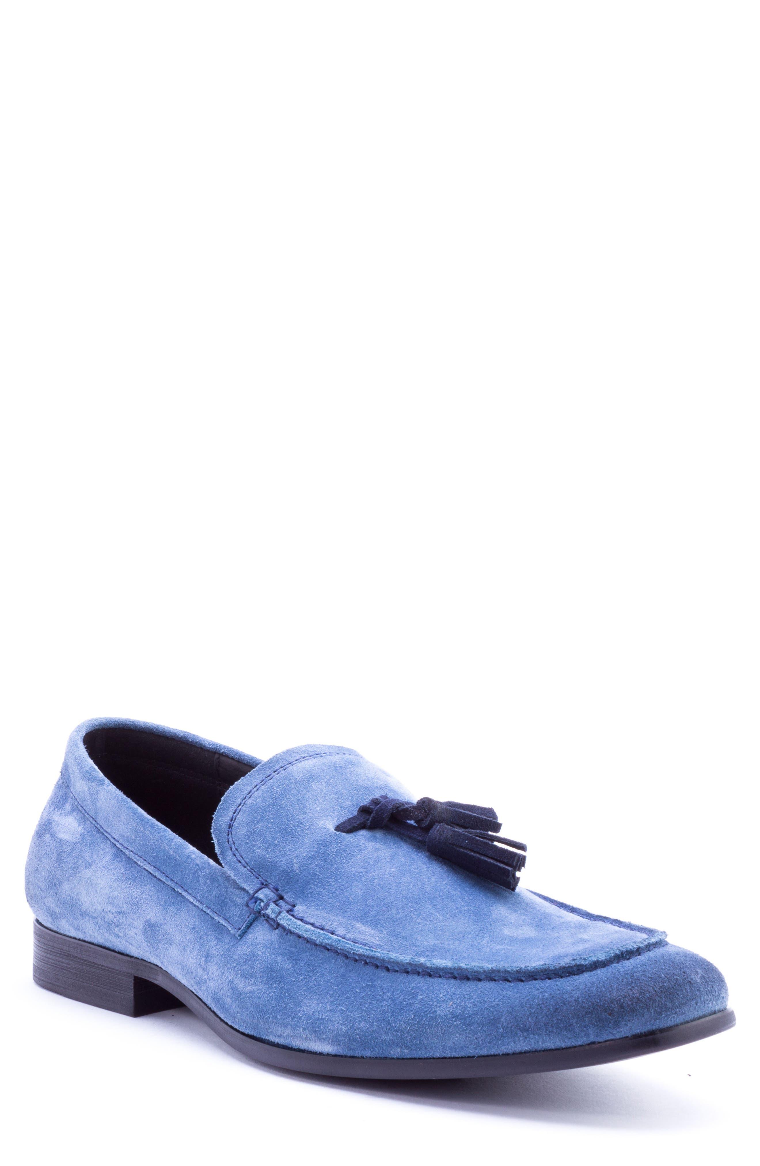 Severn Tassel Venetian Loafer,                             Main thumbnail 1, color,                             Blue Suede