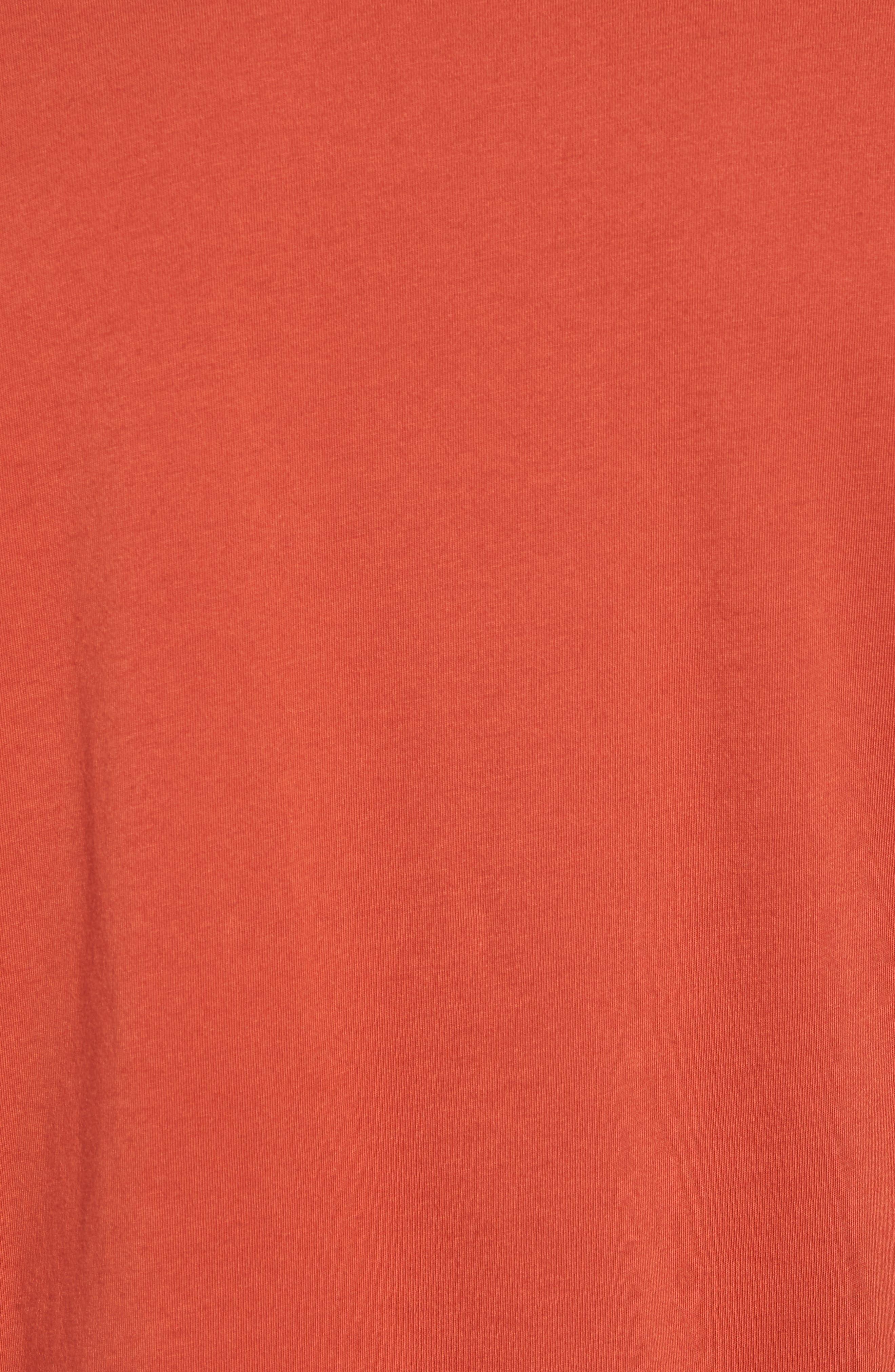 Reverse Hem Slim Fit T-Shirt,                             Alternate thumbnail 5, color,                             Ginger