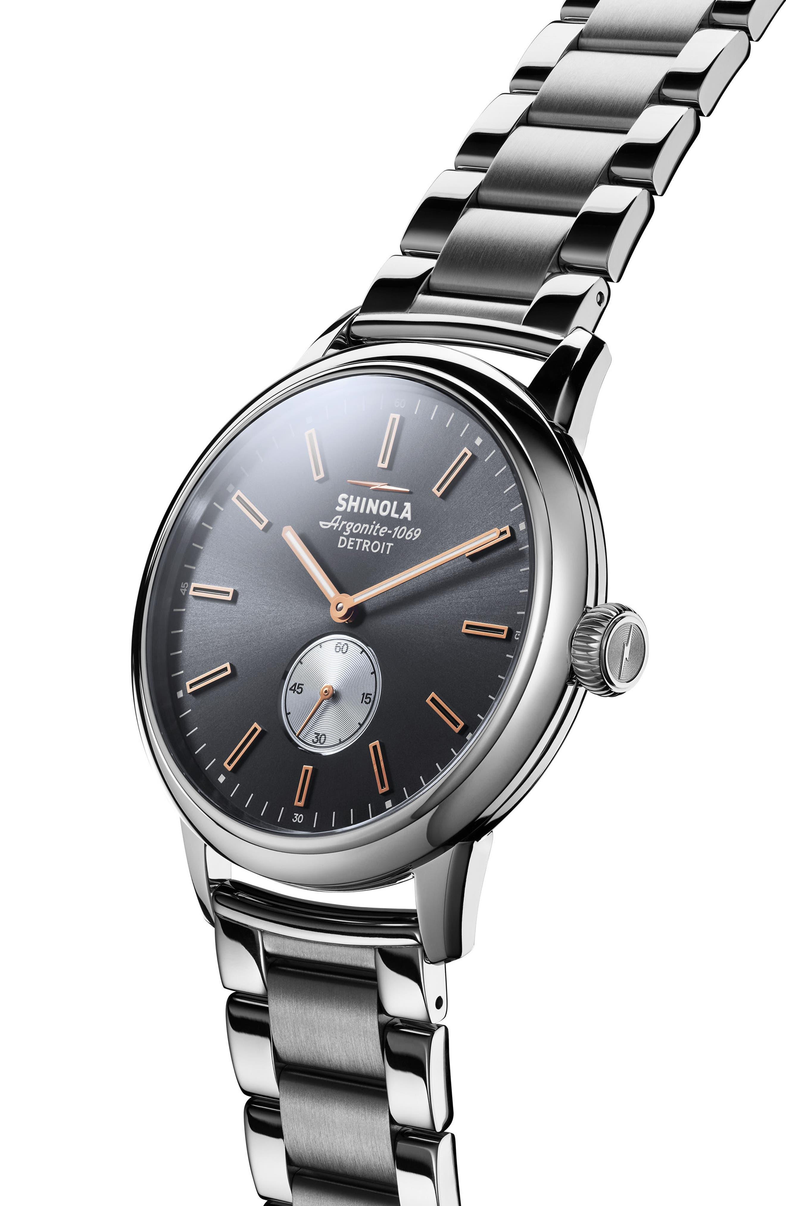 Alternate Image 3  - Shinola Bedrock Bracelet Watch, 42mm